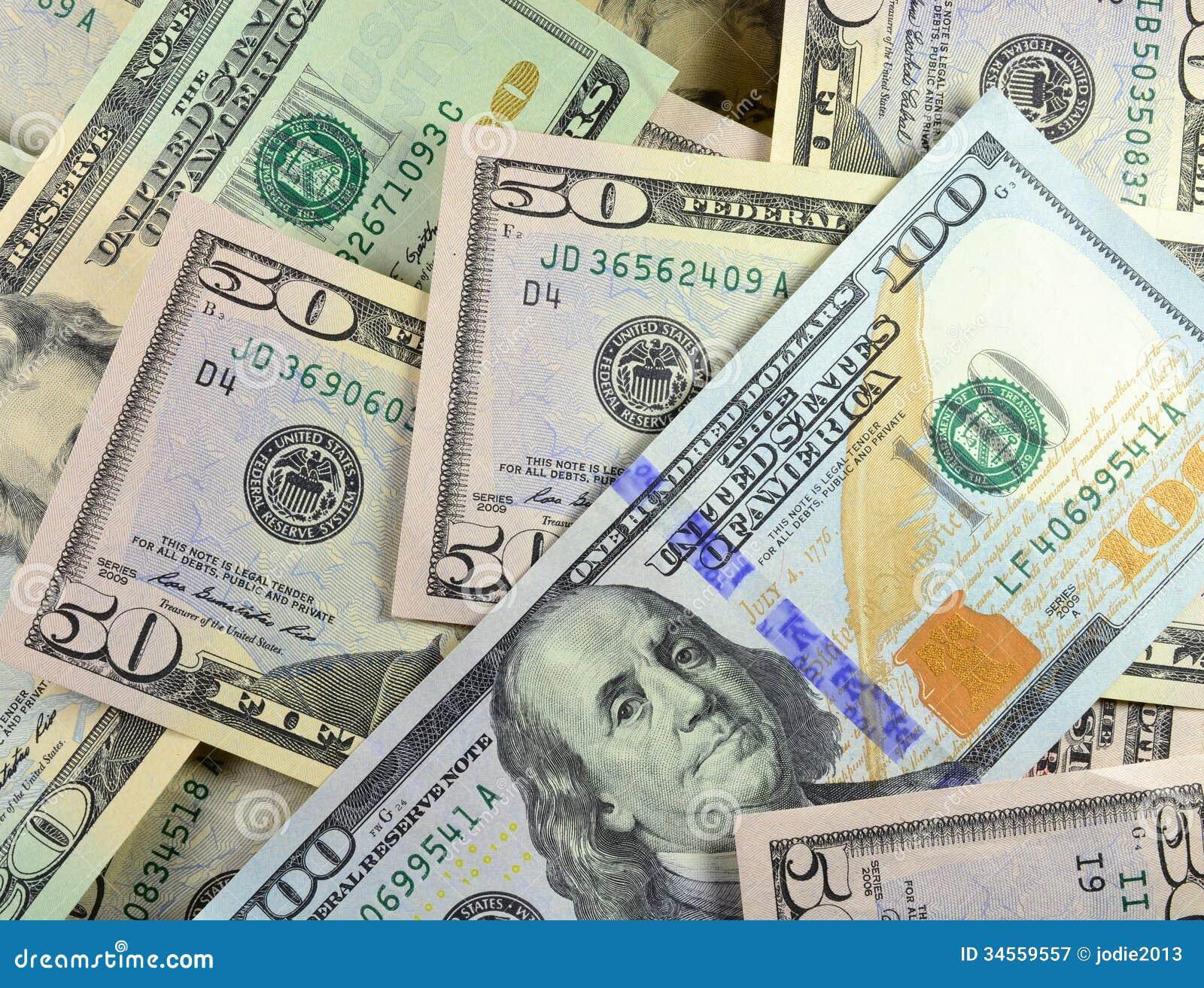 Haphazard Money Pile W/ New $100 Royalty Free Stock Photography ...
