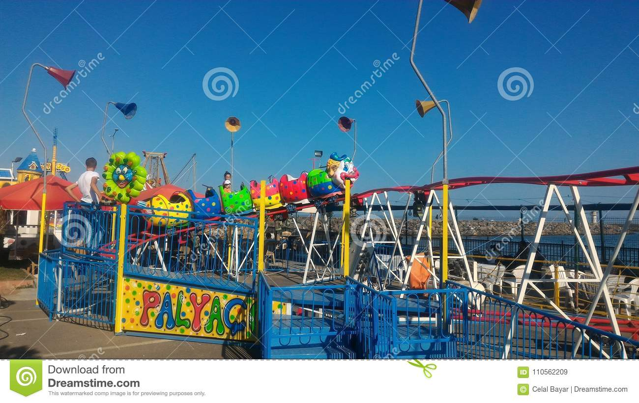 Download Fun at the fun park stock image. Image of park, happiness - 110562209