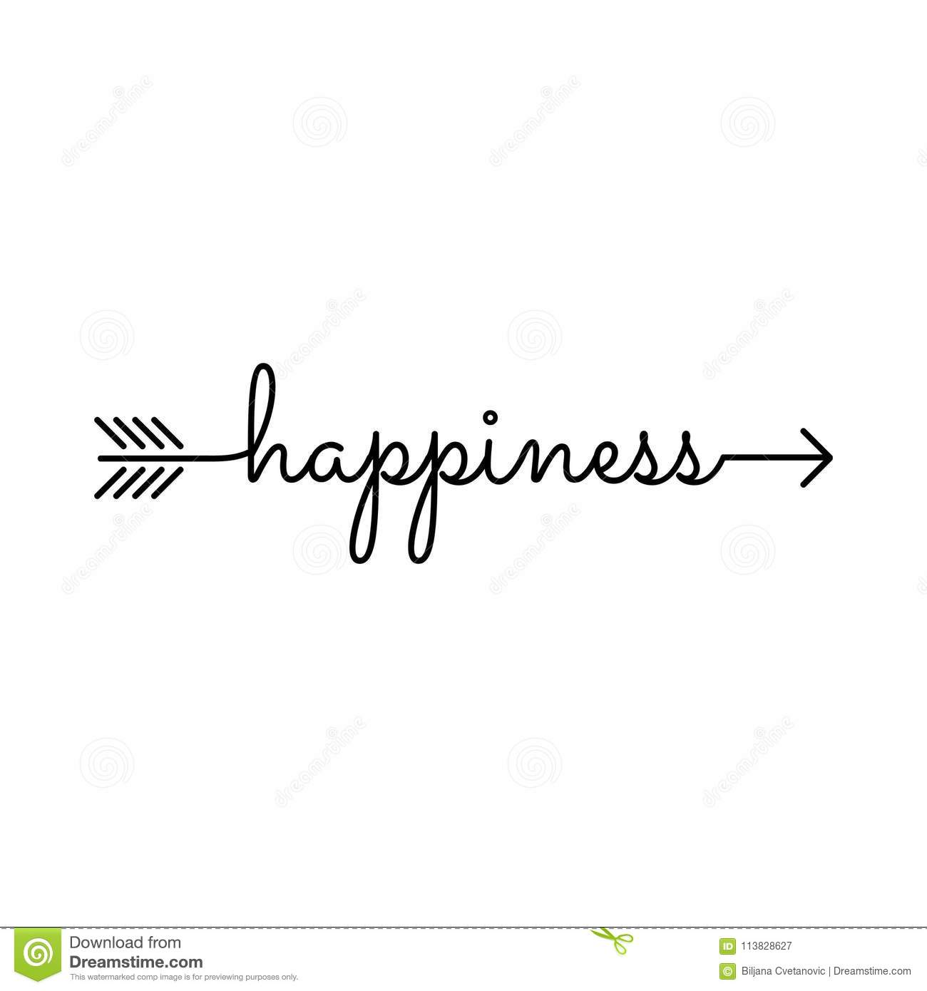 A Word Of Happiness: Happiness Arrow Stock Vector. Illustration Of Alphabet