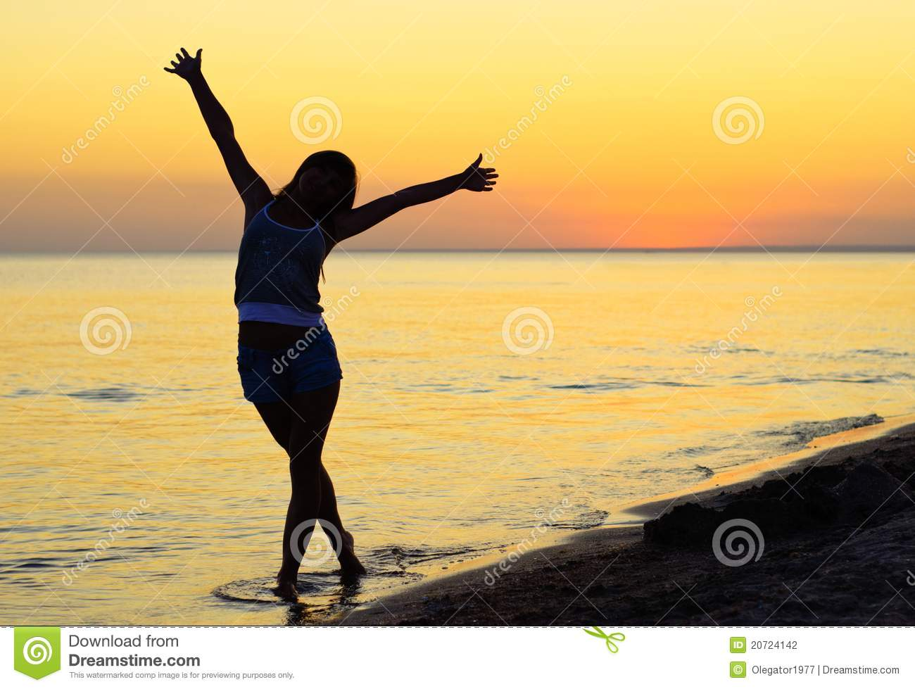 Happiness On The Beach Stock Photo Image Of Happy