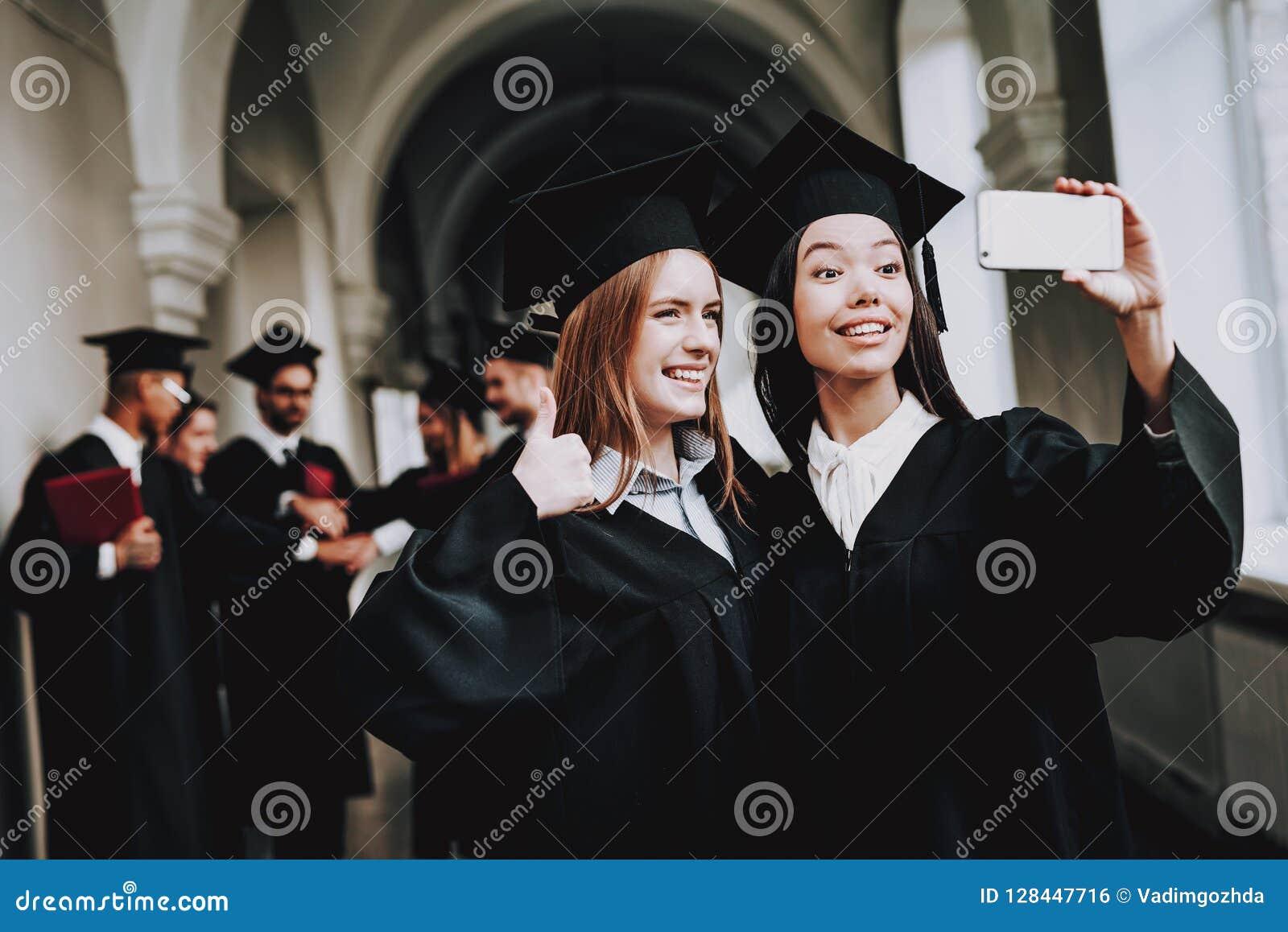 Happiness. Girls. Intelligence.Diploma.University.