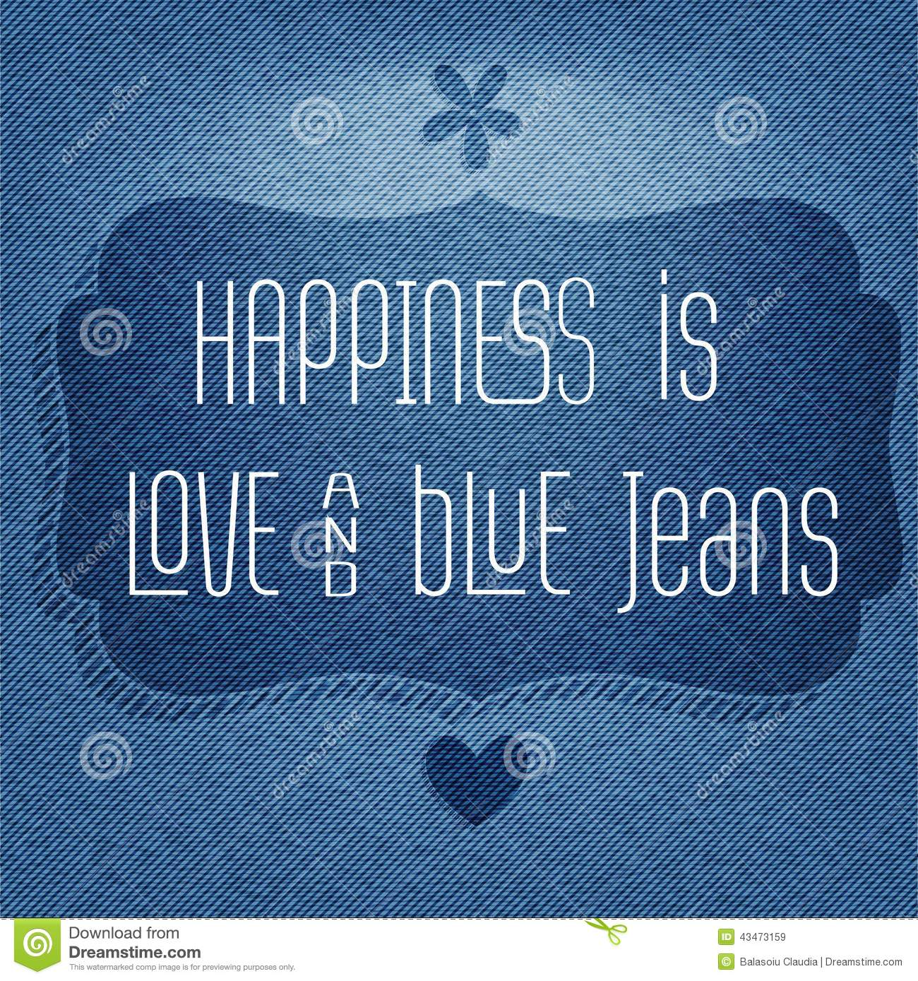 Happiness Love Quotes Happiness Is Love And Blue Jeans Quote Typographic Background