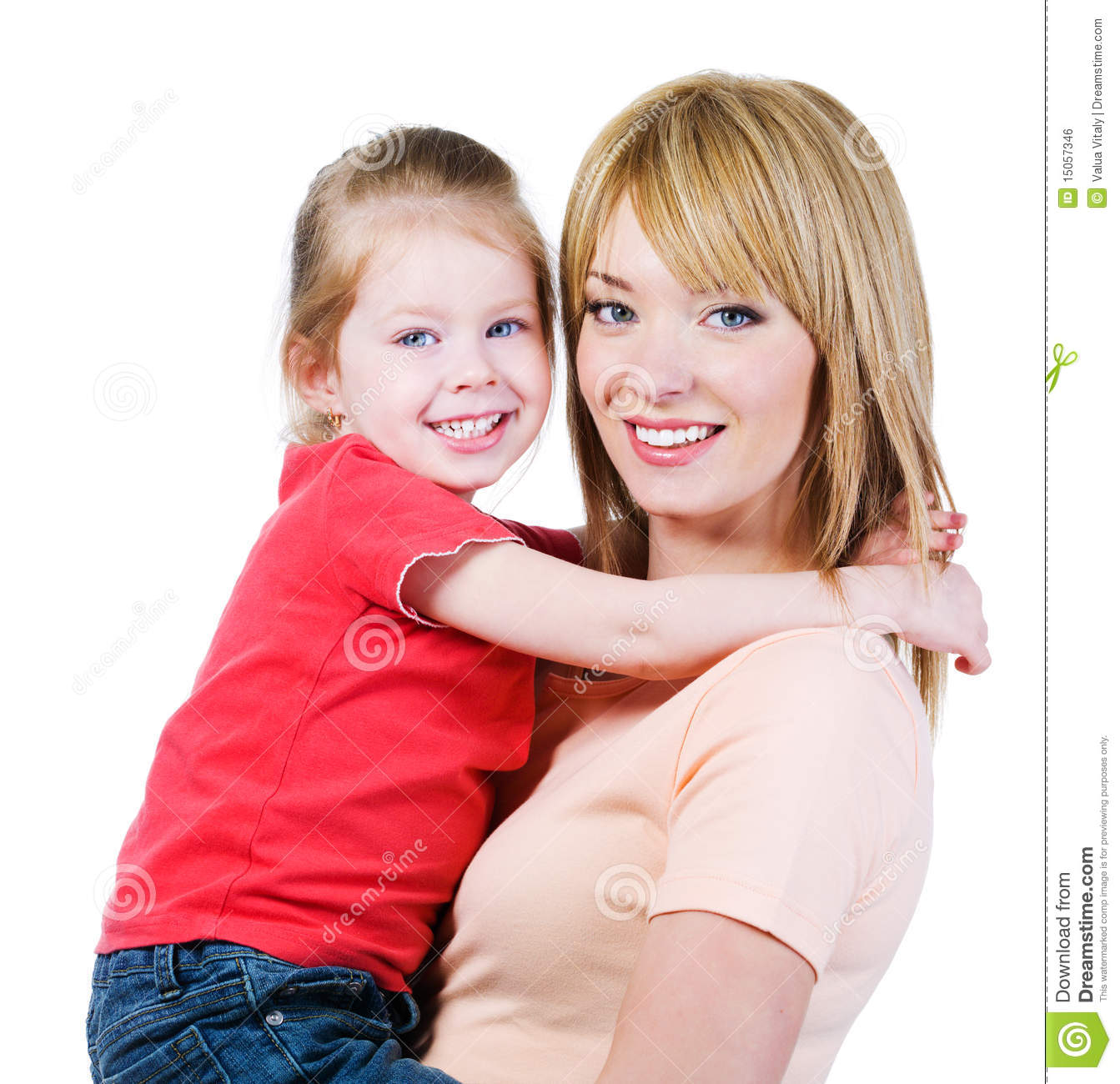 Happiness of mother andh daughter