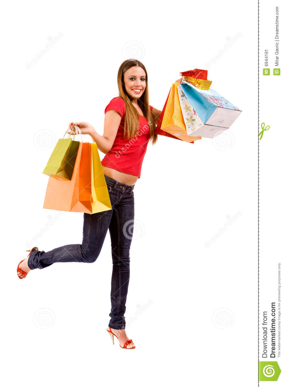 happiness shopping girl