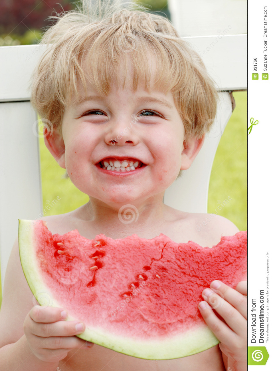 Happiness is a slice of watermelon