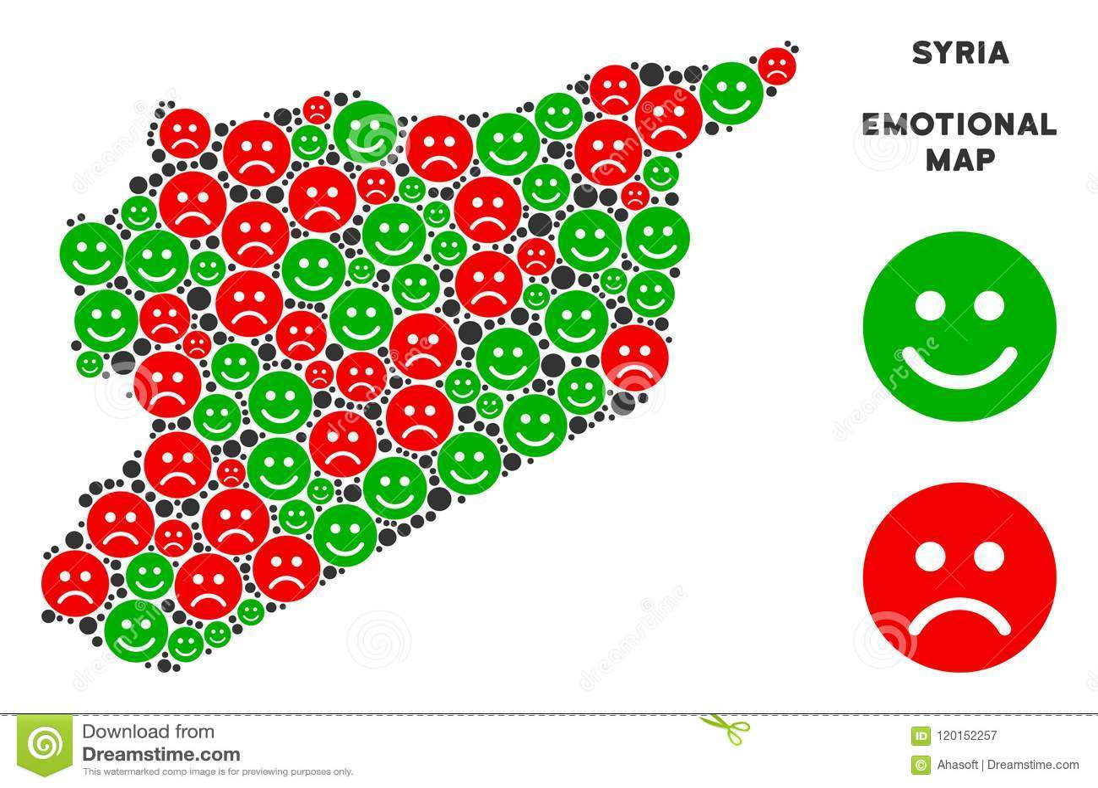Vector Emotion Syria Map Mosaic Of Emojis