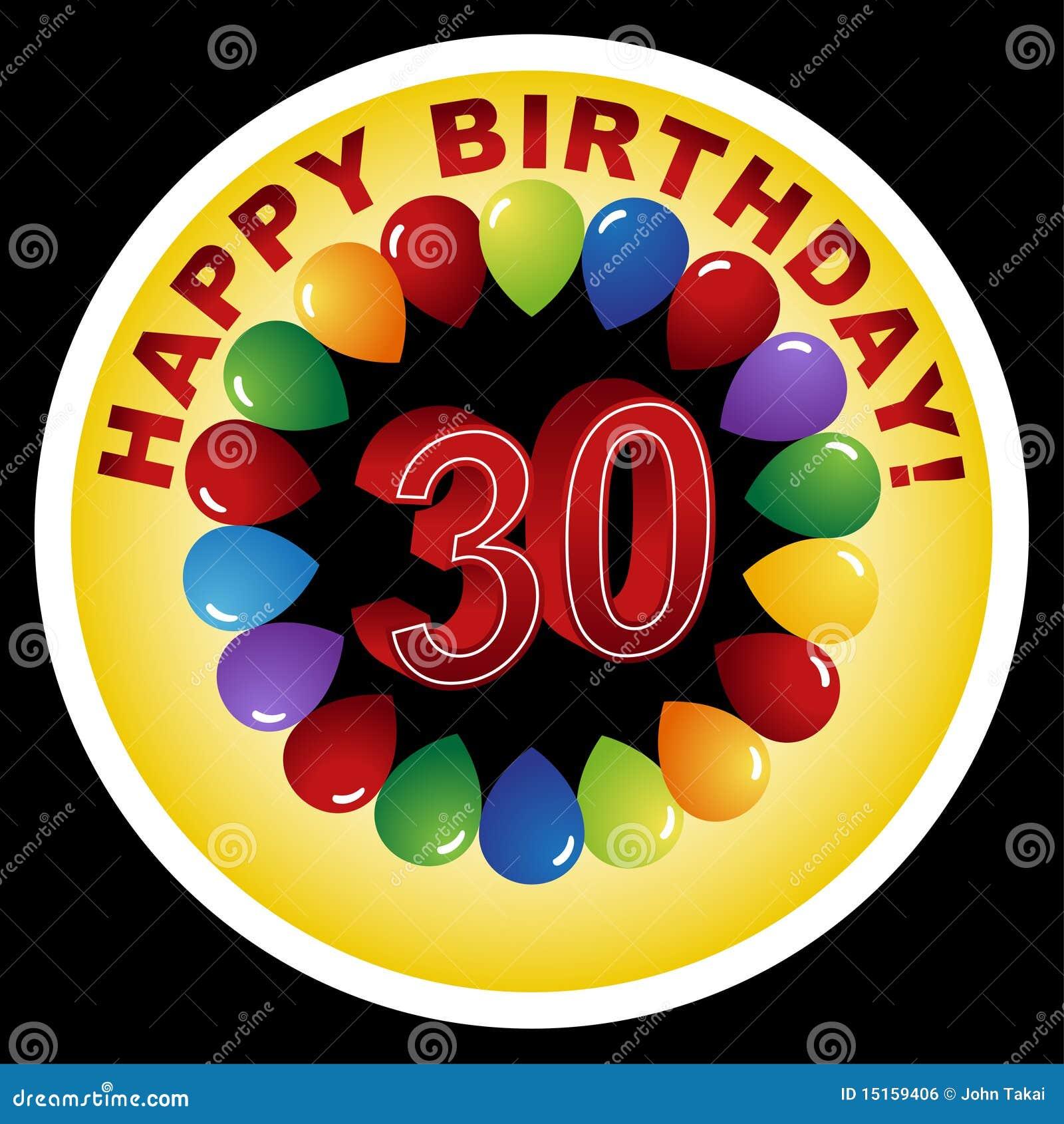 Happy 30th Birthday! Royalty Free Stock Image
