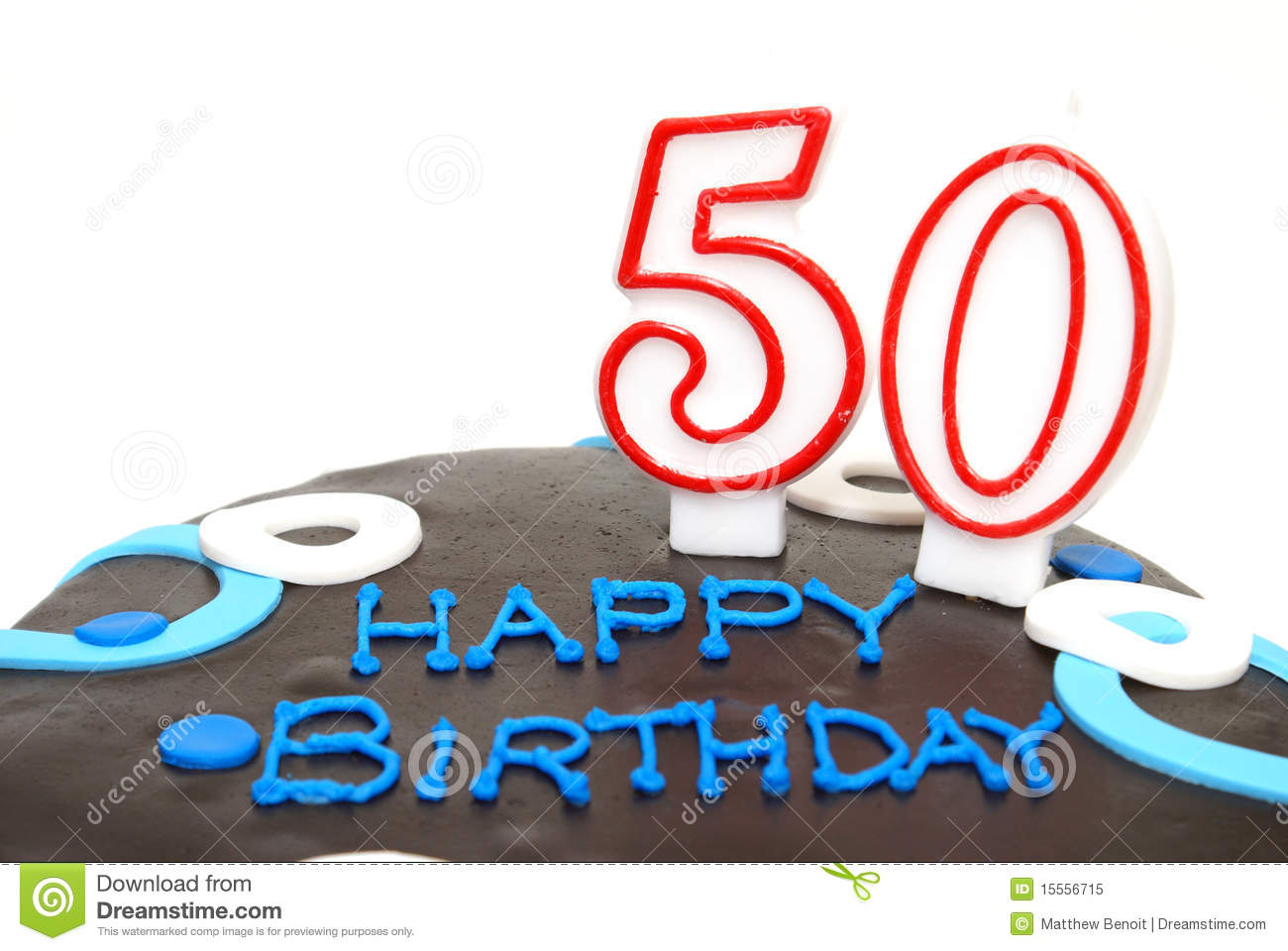 Happy 50th Birthday Stock Image Image Of Birthday