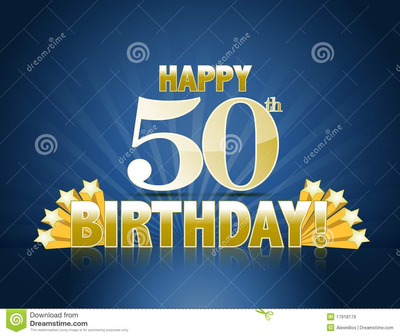 Happy 50th Birthday Stock Vector Illustration Of Gold