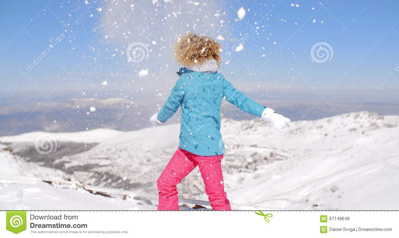 0b1ca4aff0 Happy Adult In Ski Clothes Waving Arms Stock Footage - Video of  snowboarder
