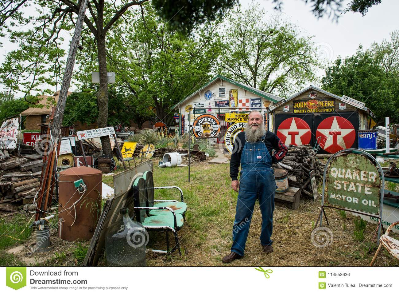 Download Typical Face Of An Old American On Route 66. Man Standing In Front Of His House. Editorial Photo - Image of house, objects: 114558636