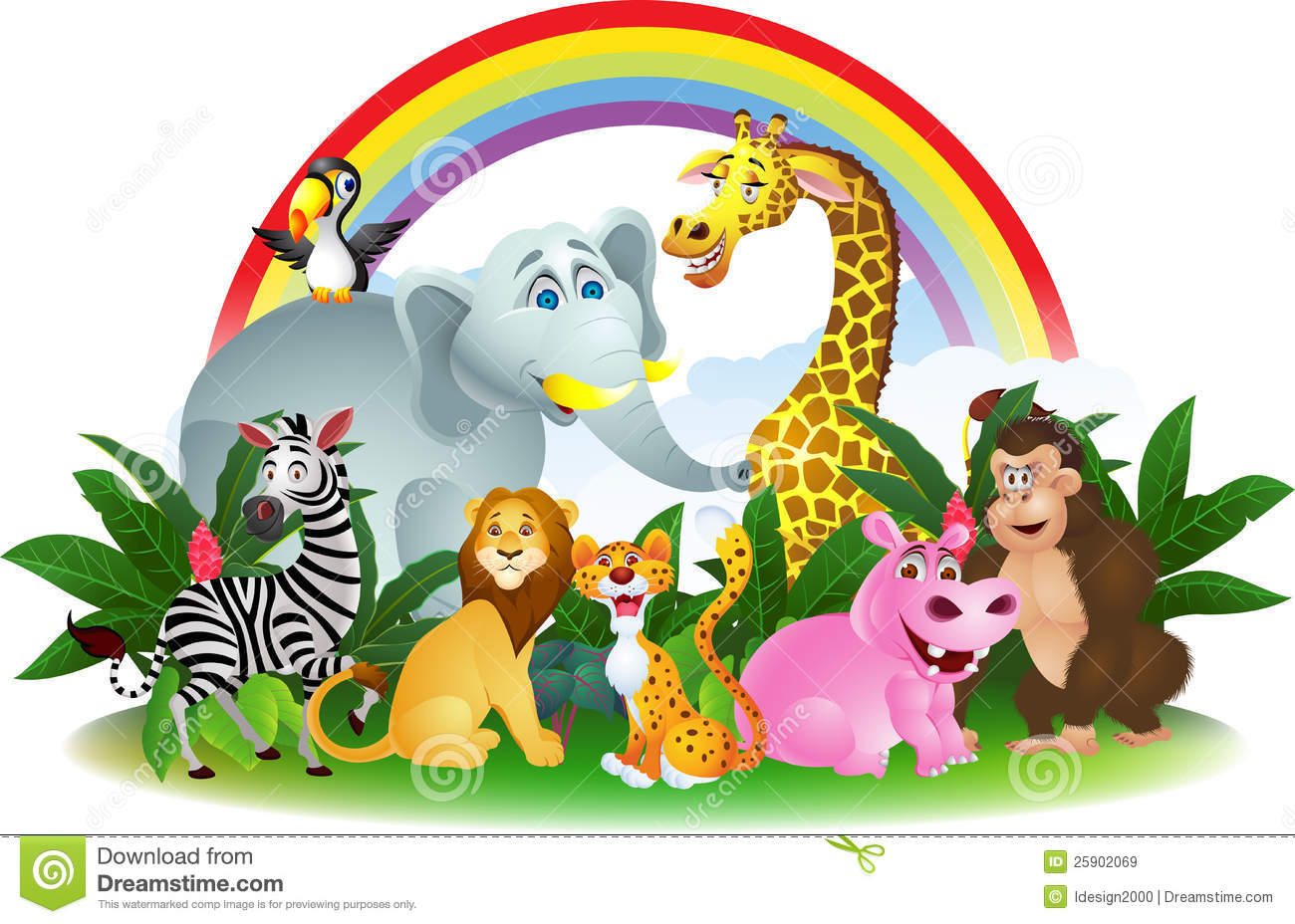 Royalty Free Stock Images: Happy animal cartoon. Image: 25902069