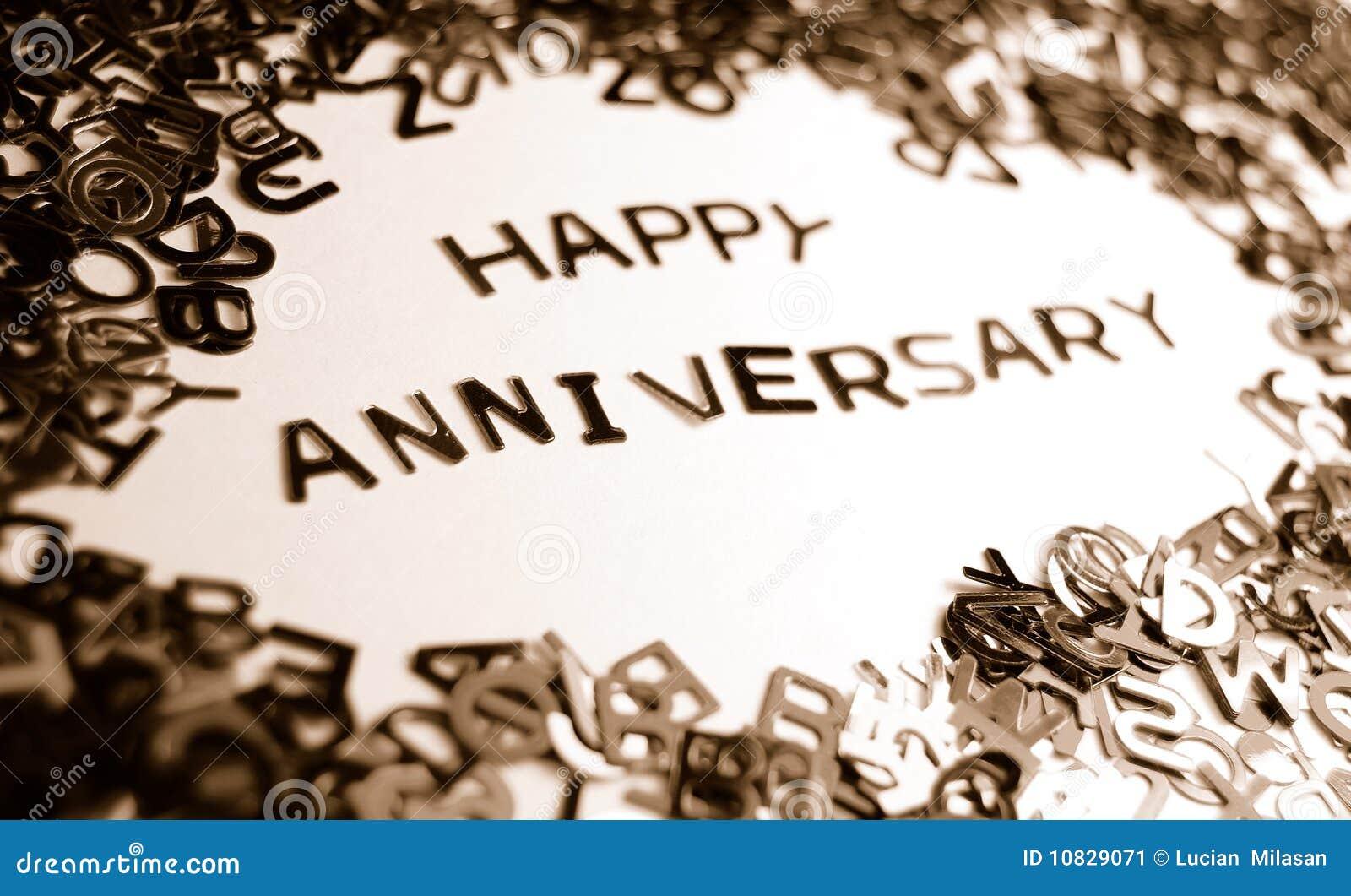 Happy Anniversary Stock Image. Image Of Alphabet, Wedding