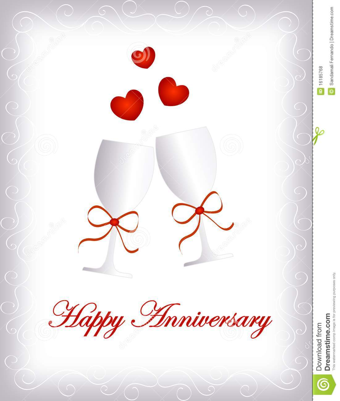 happy anniversary stock illustration illustration of champagne