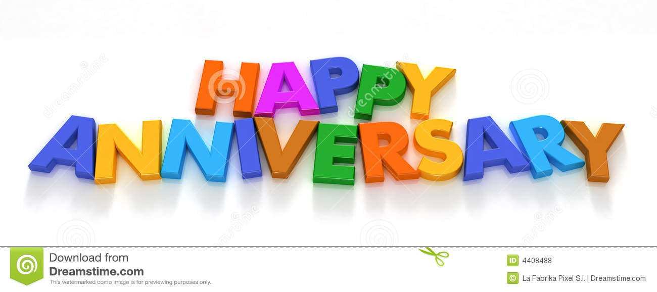 Happy Anniversary In Capital Letter Magnets Stock Photo Image Of
