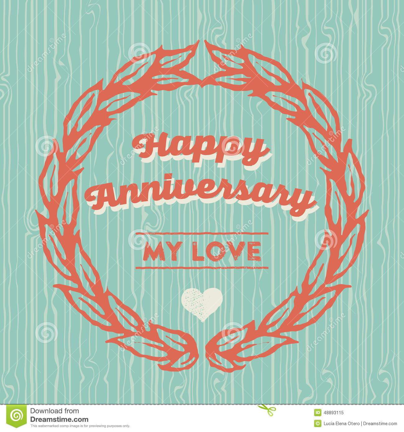 happy anniversary card template – Anniversary Card Template