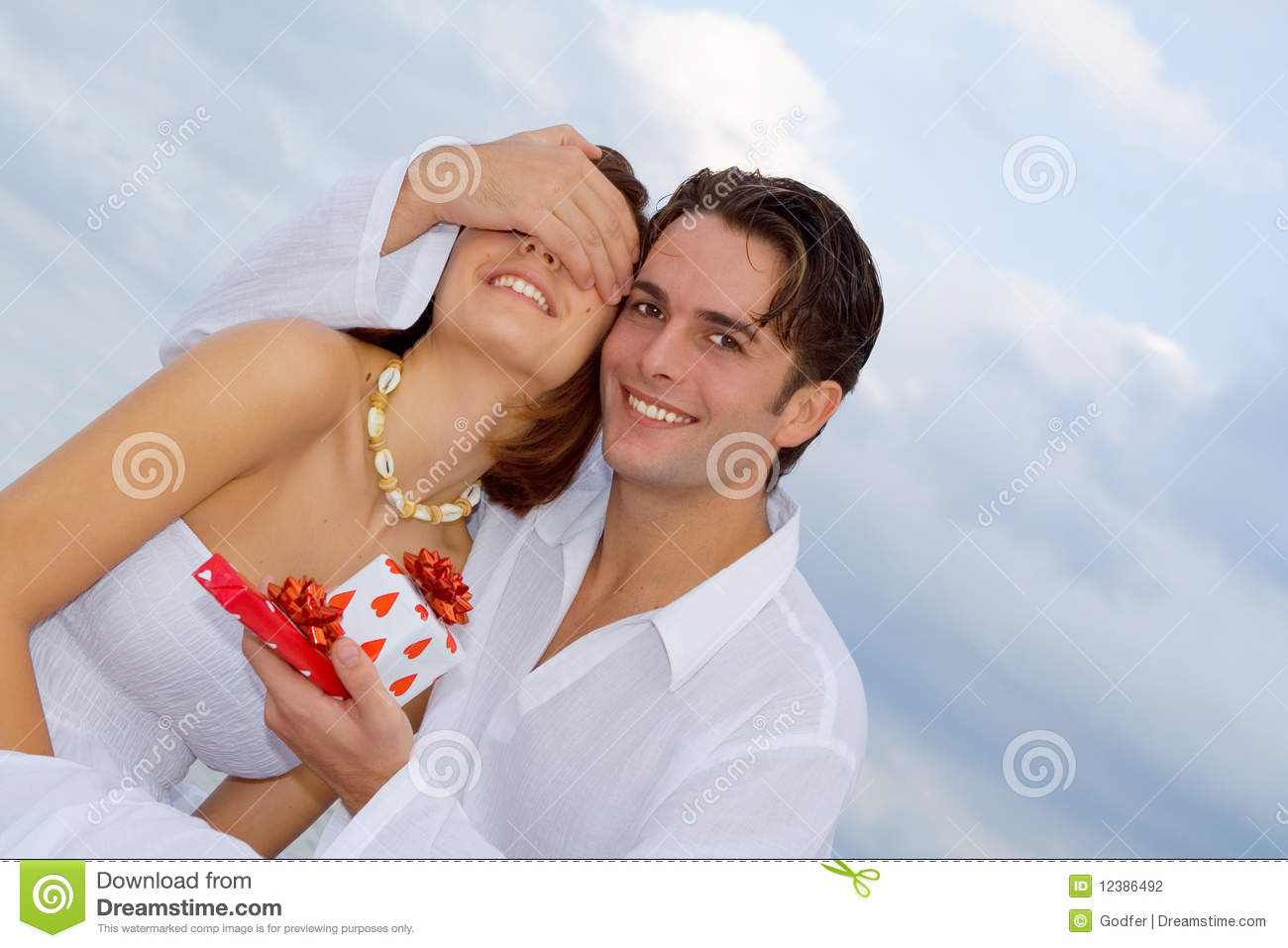 Happy anniversary couple in love stock photo image of friends
