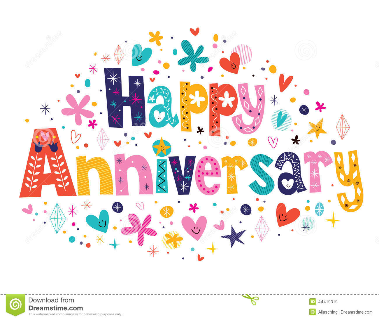 Happy Anniversary Clip Art Happy Anniversary Stock Vector - Image: 44419319