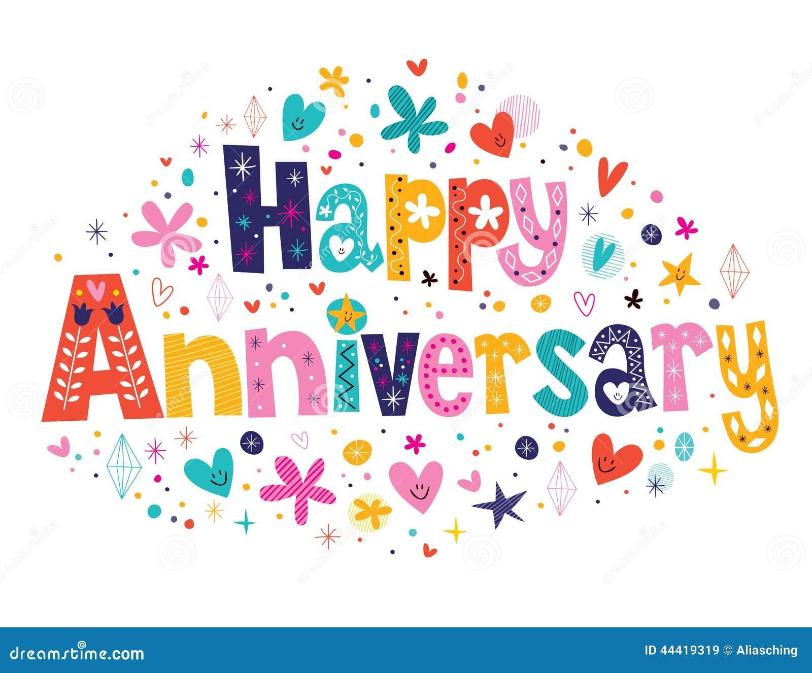 Happy Anniversary Clip Art Happy Anniversary Stock Vector - Image: 44419319