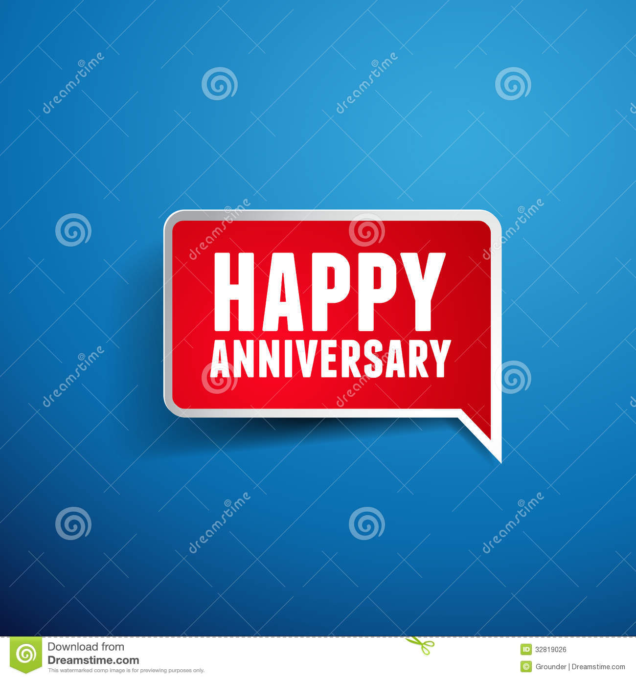 Happy Anniversary Greeting Template Royalty Free Stock
