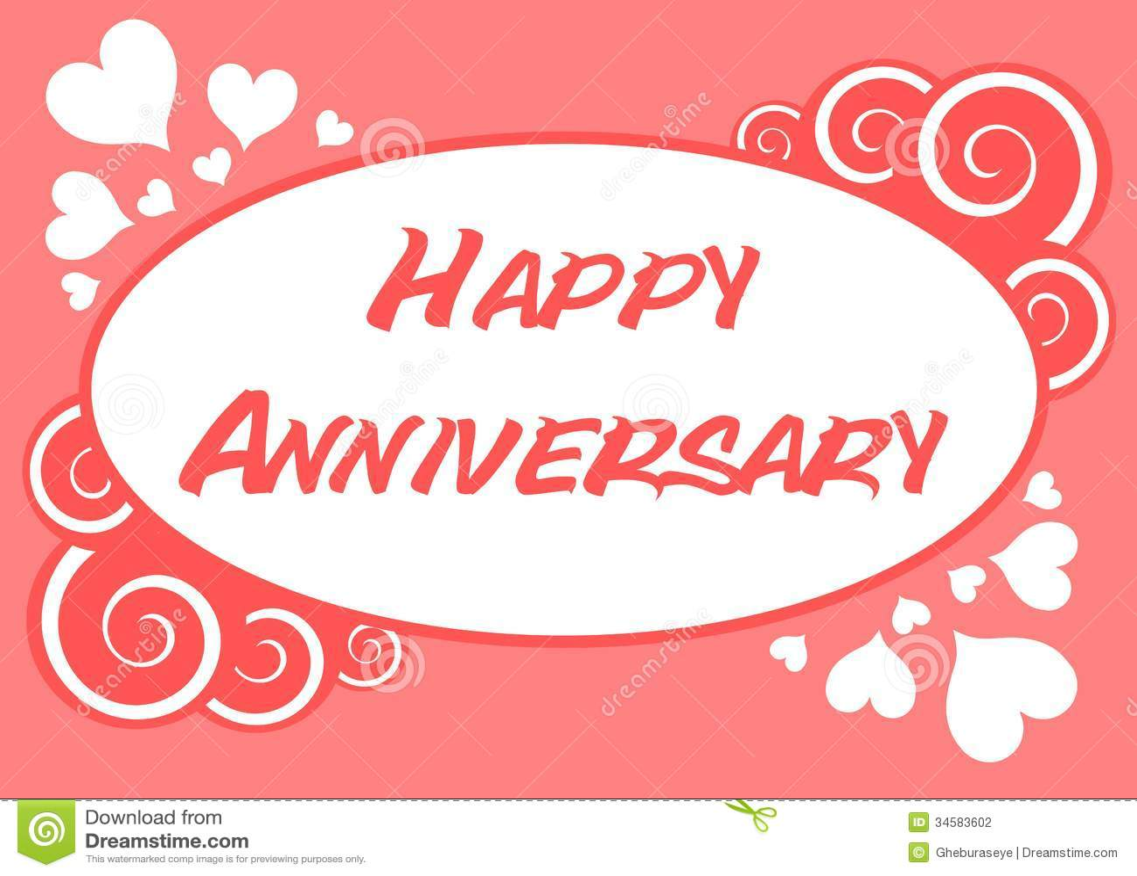 Happy Anniversary Stock Vector. Illustration Of