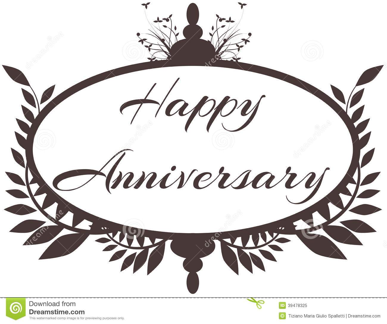 Happy Anniversary Label Isolated Stock Vector Image