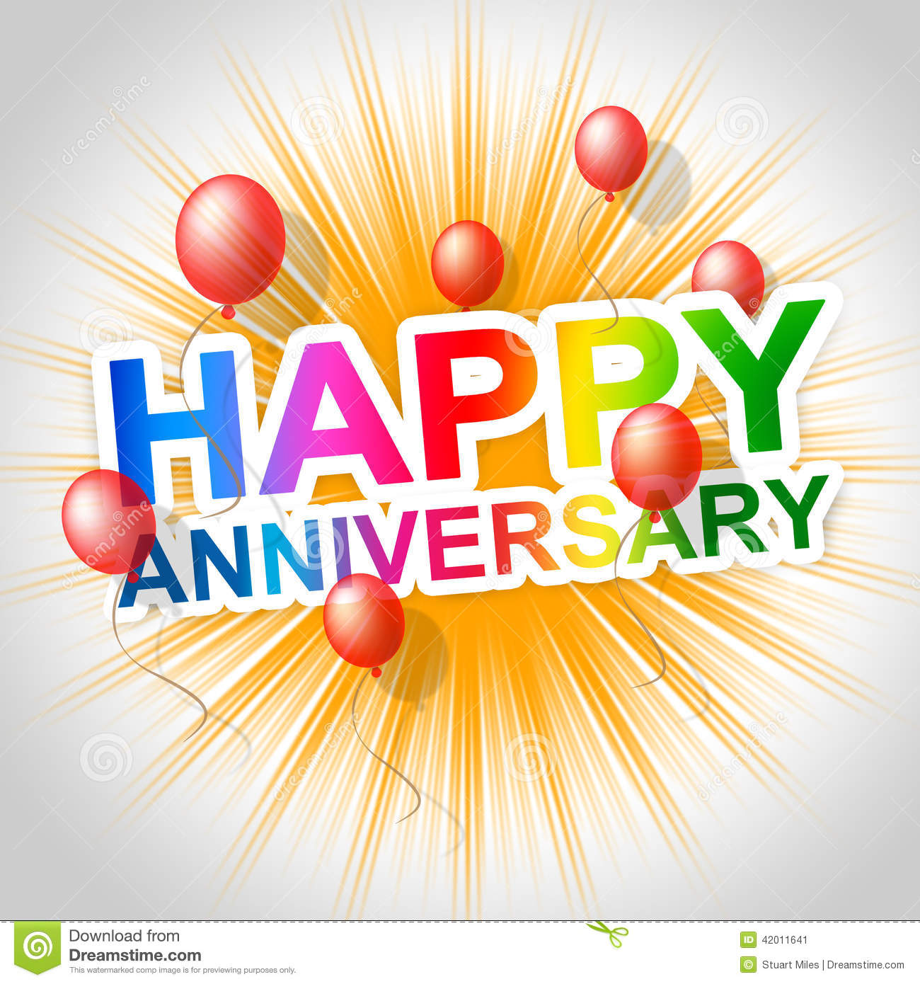Happy anniversary indicates message parties and