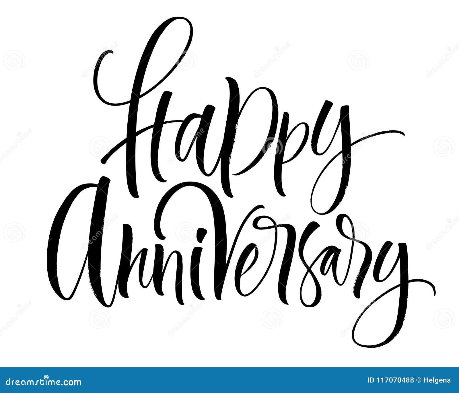 happy anniversary lettering stock vector illustration of design