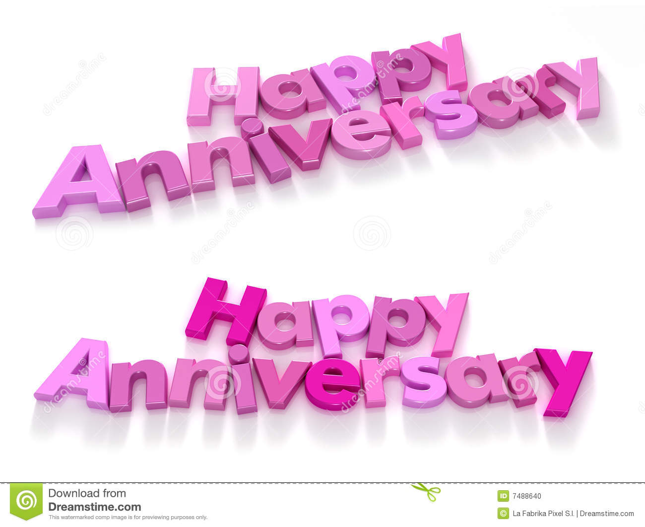 Happy Anniversary In Pink Shades Two Choices Stock