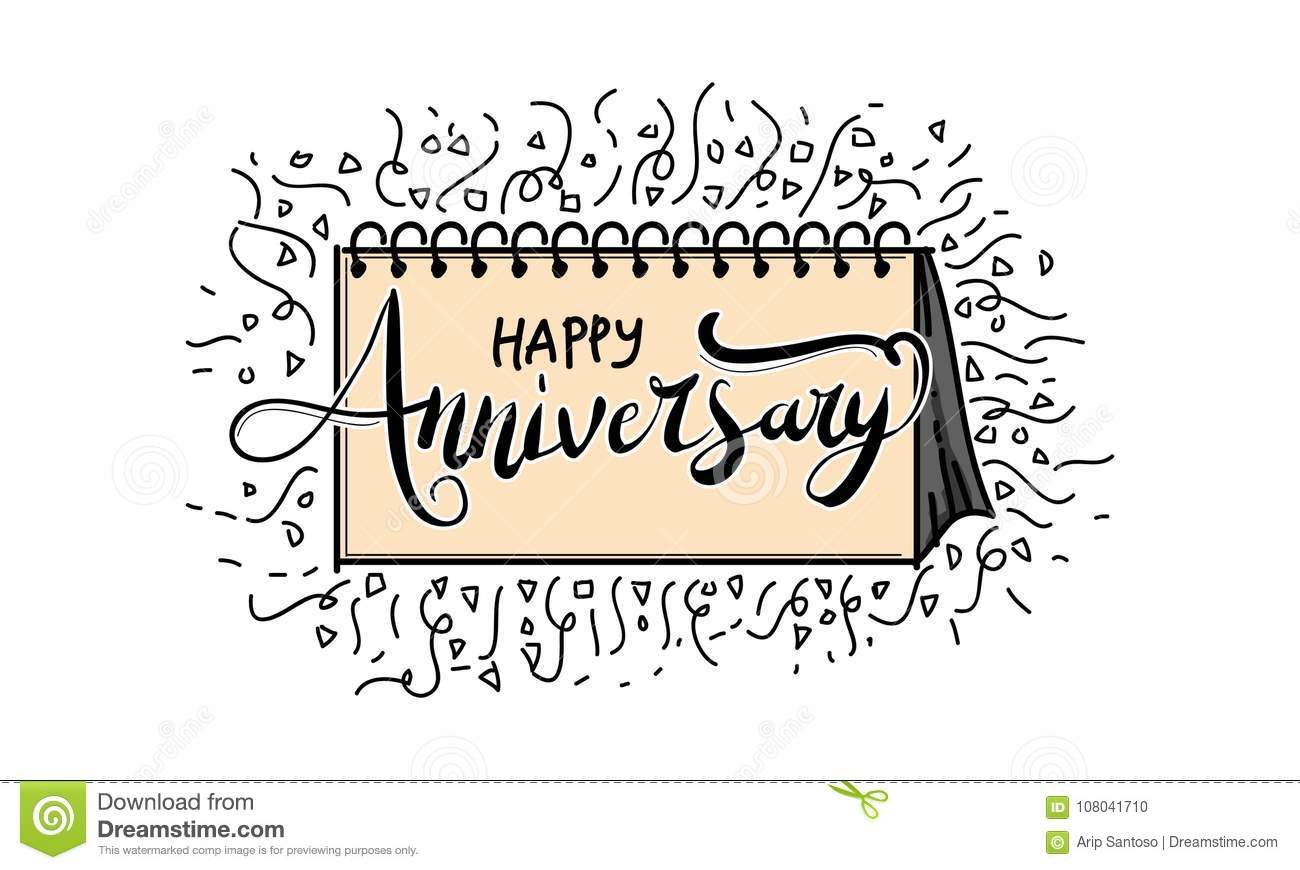 happy anniversary template vector stock vector illustration of
