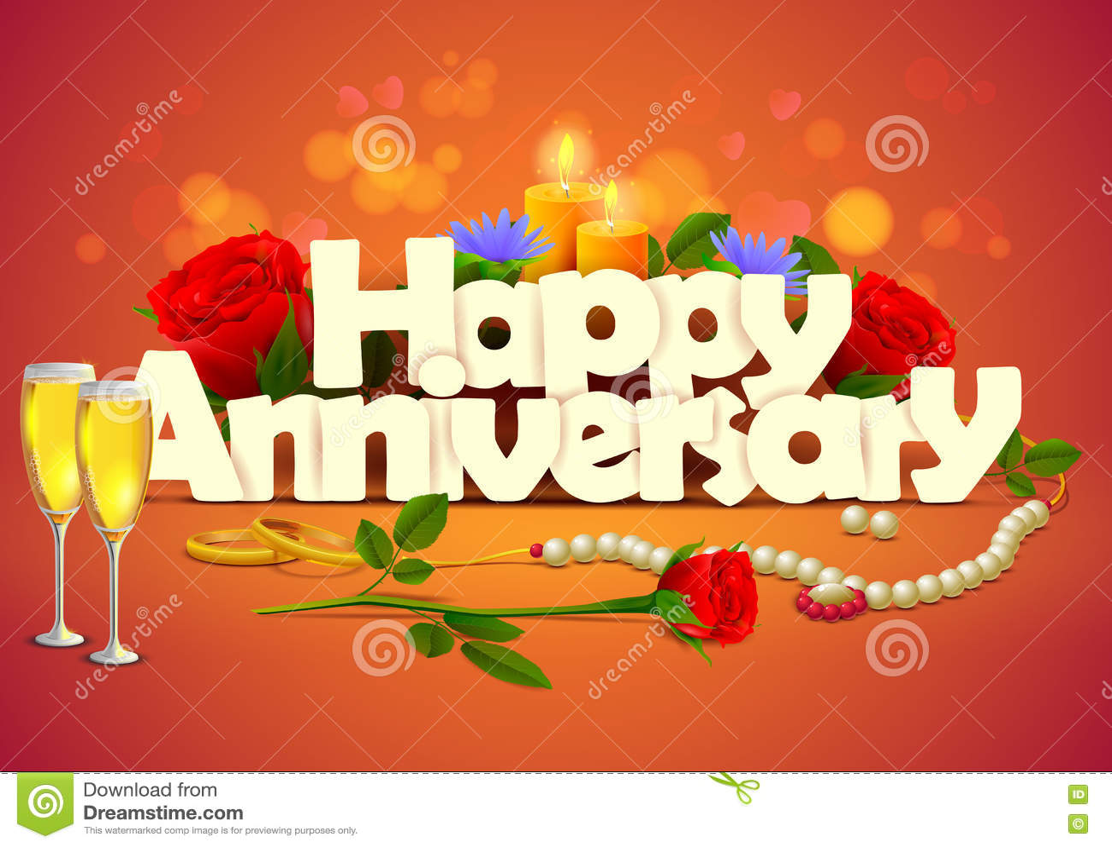 Happy Anniversary Wallpaper Background Stock Vector