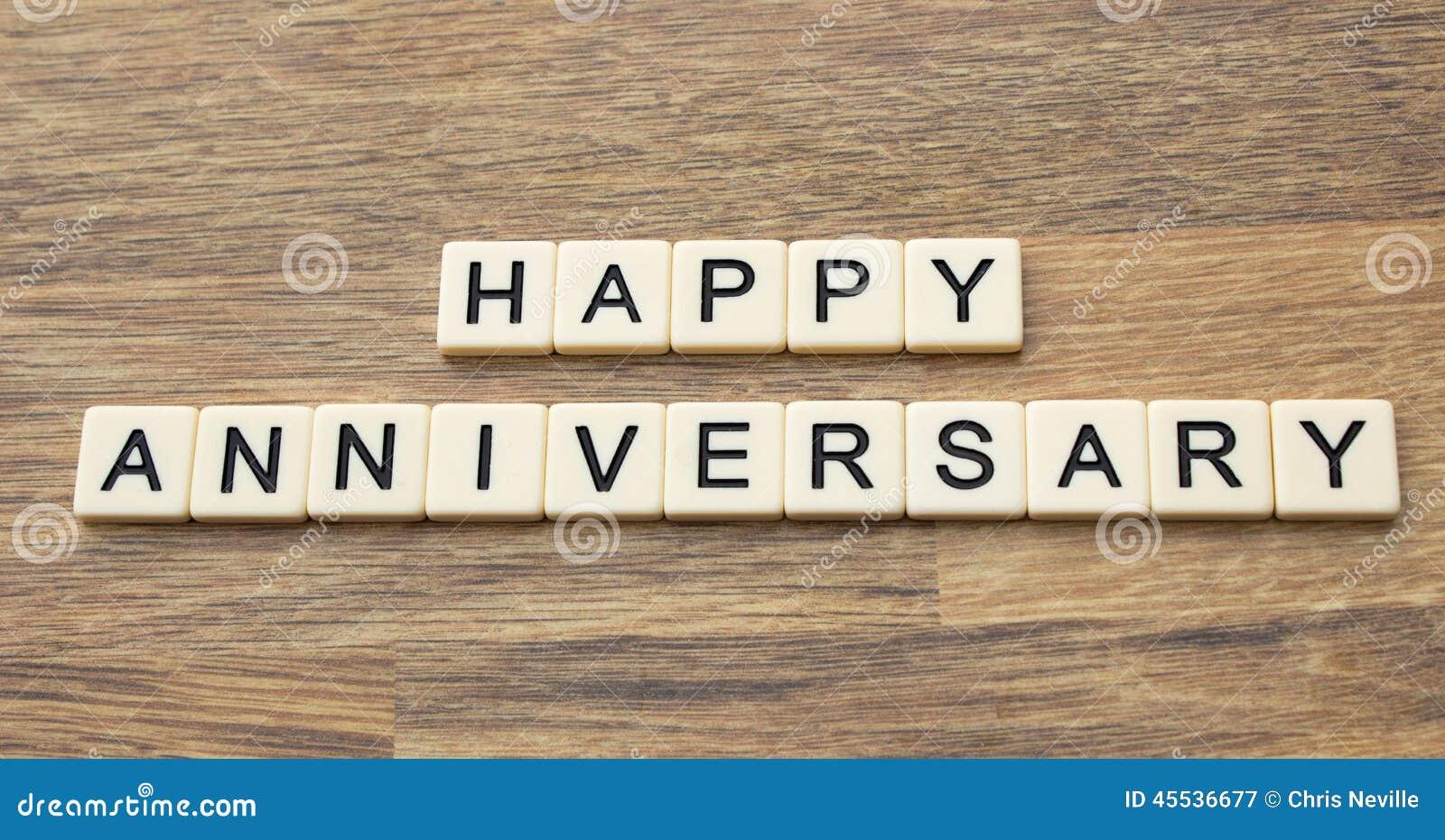 Happy Anniversary Stock Photo