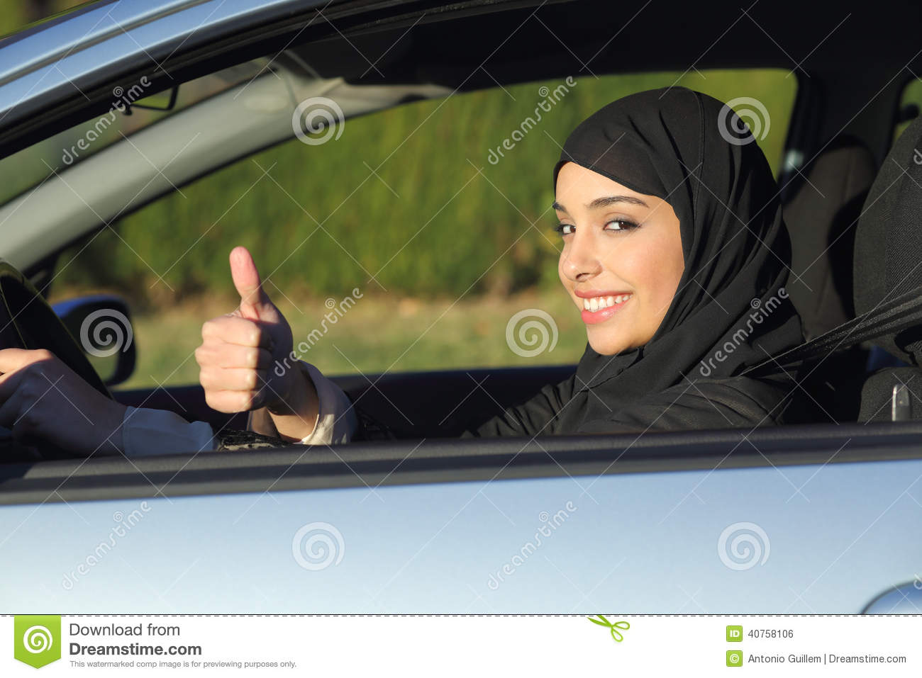Woman Driving Car In Islam