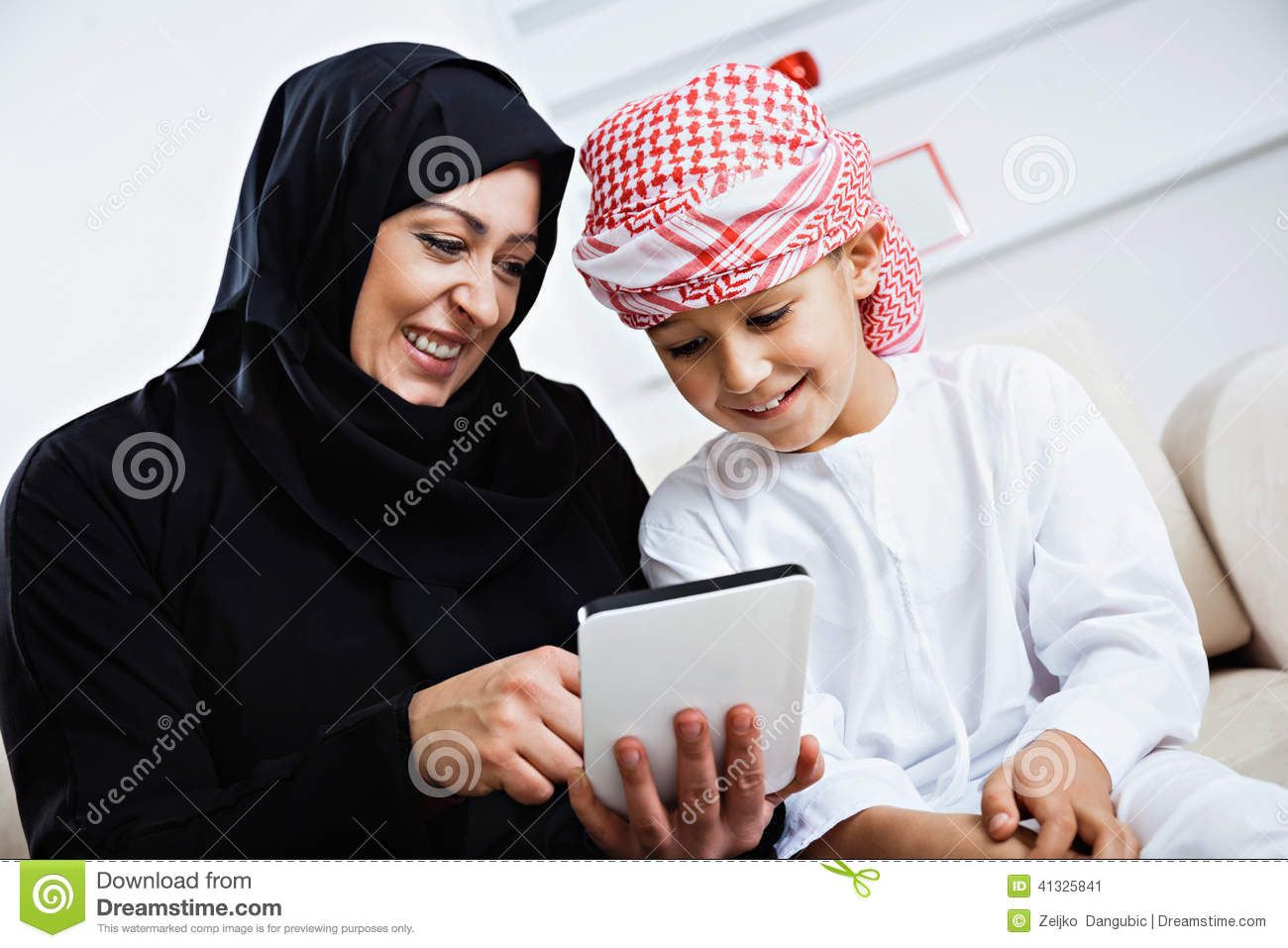 Arabic mom with young guy - 5 3