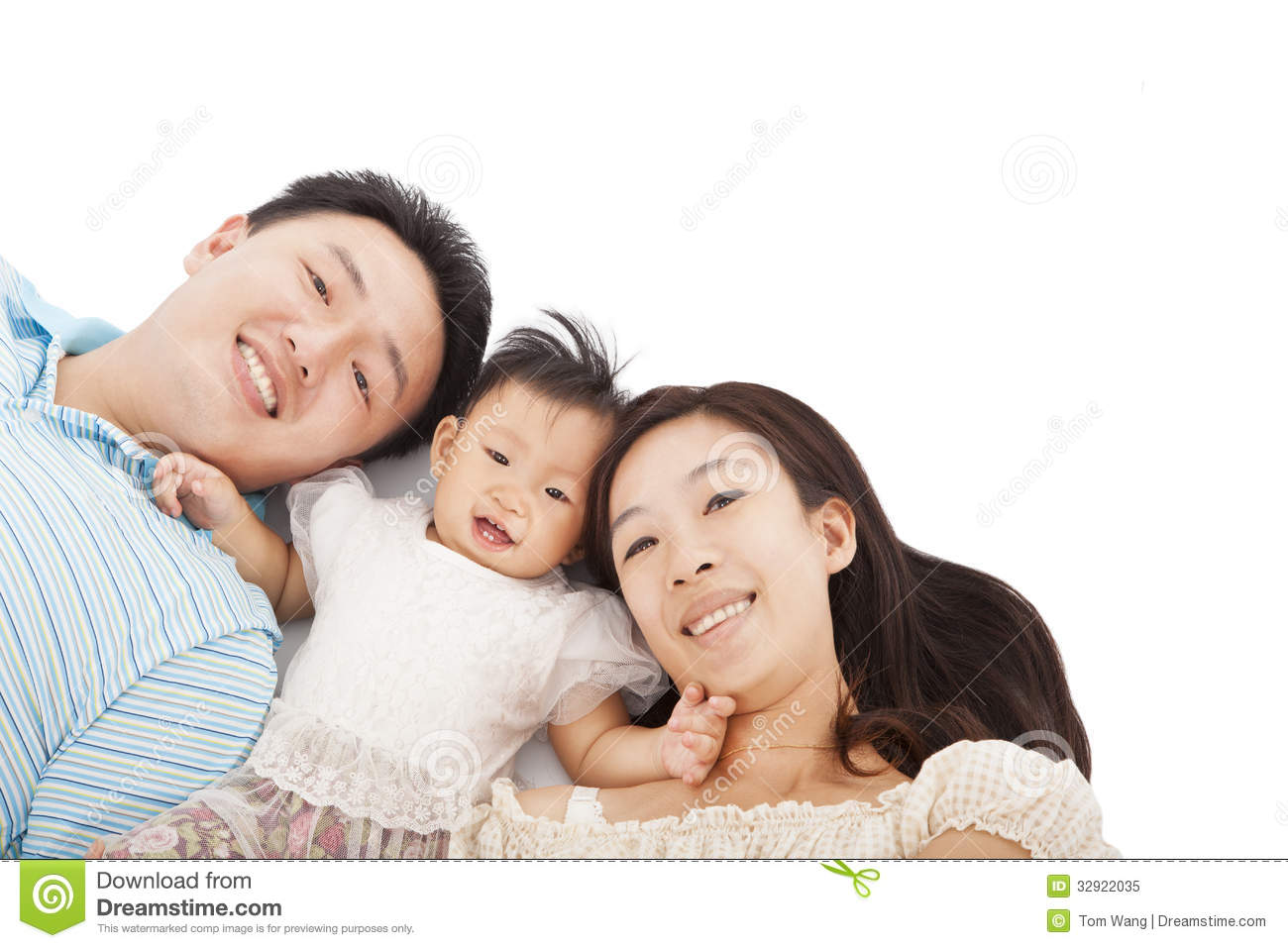 Happy Asian Family Together Royalty Free Stock Photo