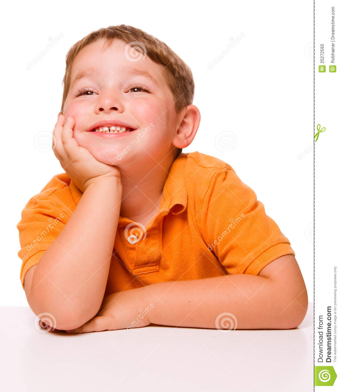Happy Attentive Child Sitting At Desk Stock Photos - Image: 25272593 Happy High School Student Clipart