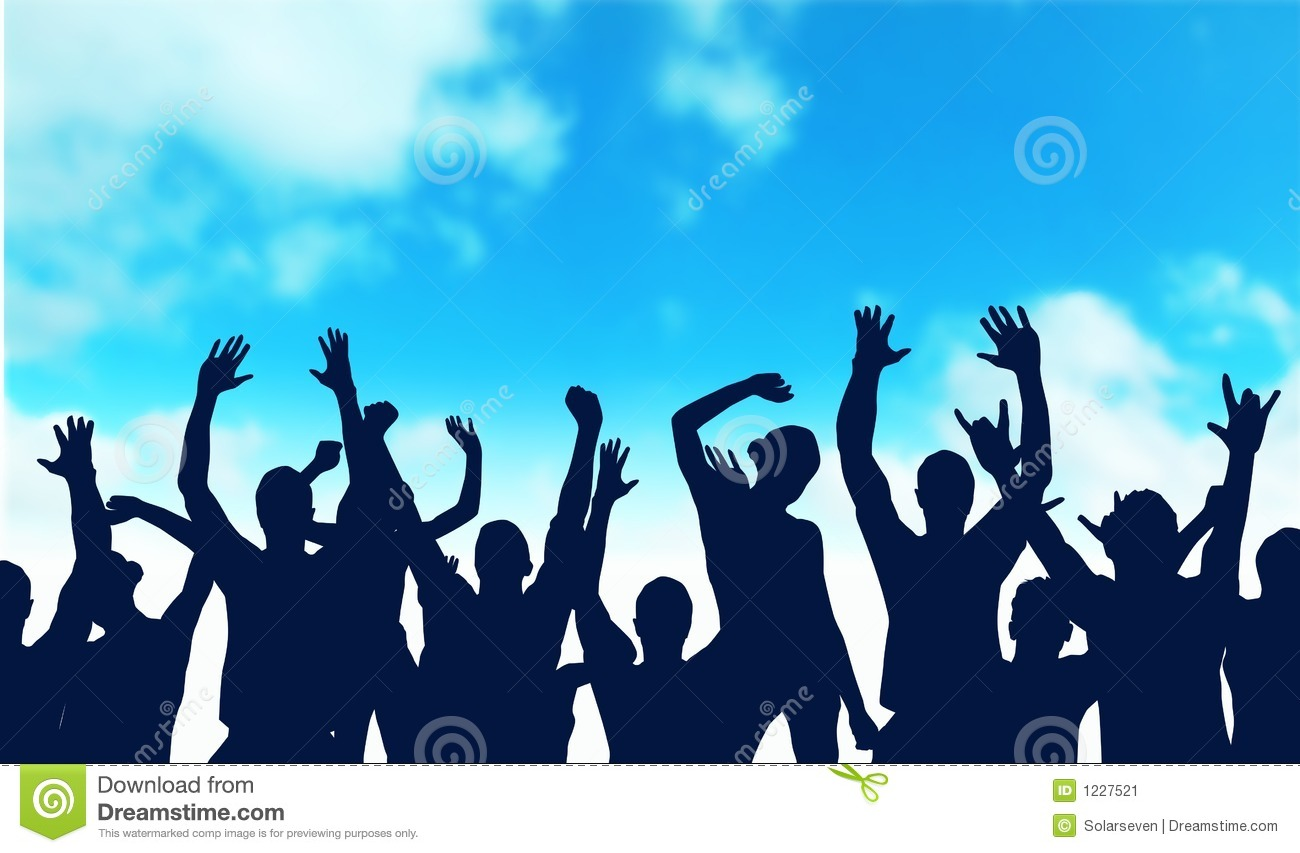The Happy Audience Stock Image - Image: 1227521