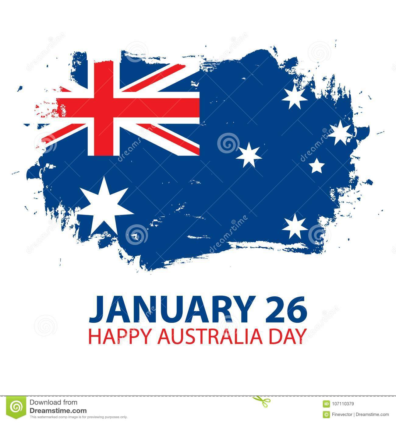 Happy australia day january 26 greeting card with brush stroke in download happy australia day january 26 greeting card with brush stroke in colors of the m4hsunfo