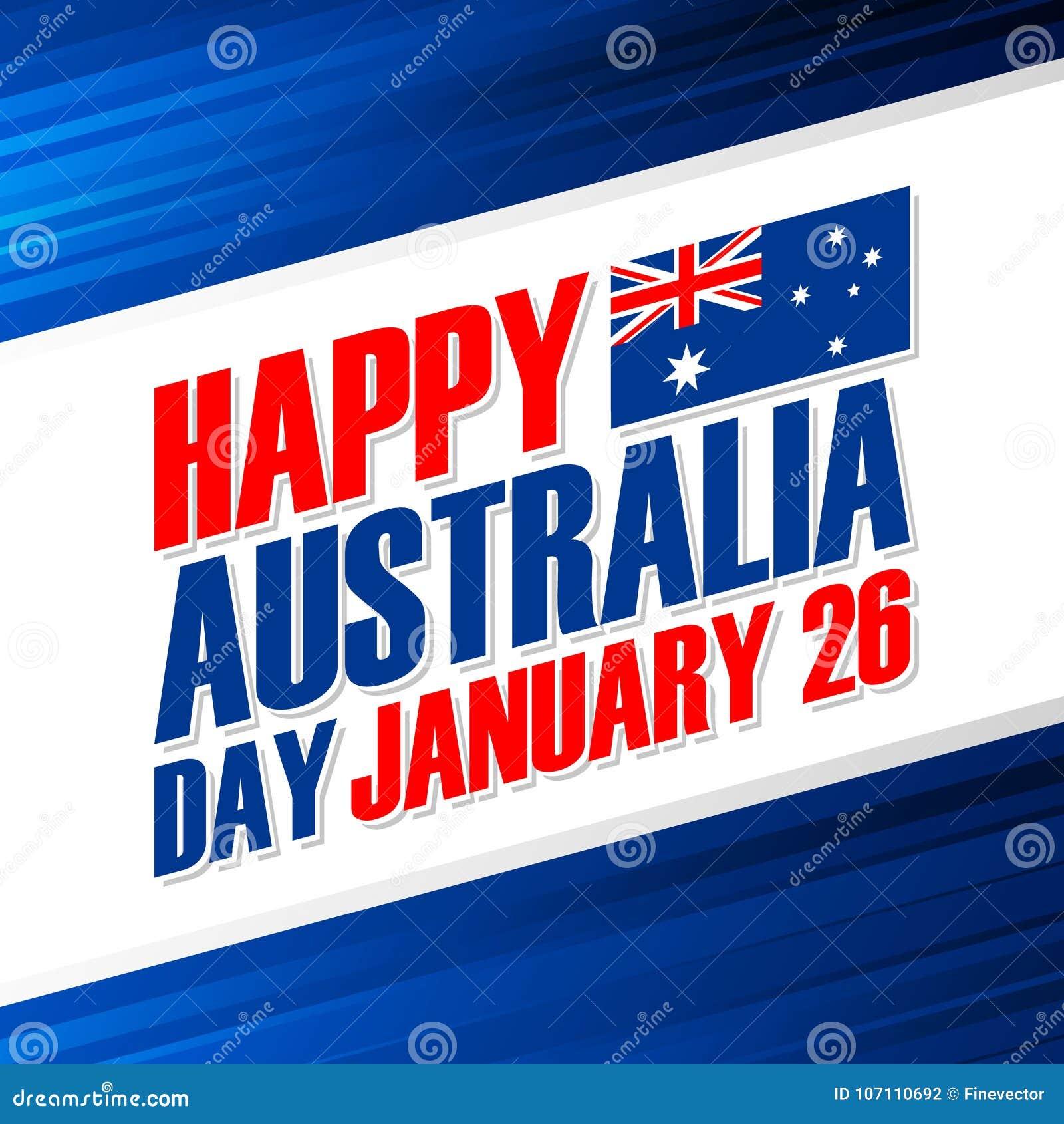 Happy australia day january 26 greeting card stock vector download happy australia day january 26 greeting card stock vector illustration of 26th m4hsunfo