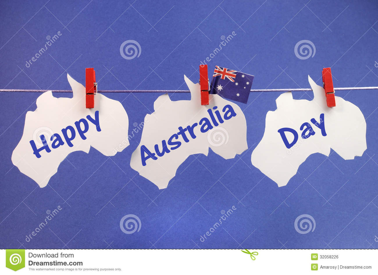 Happy Australia Day Message Greeting Written Acros Stock Photo
