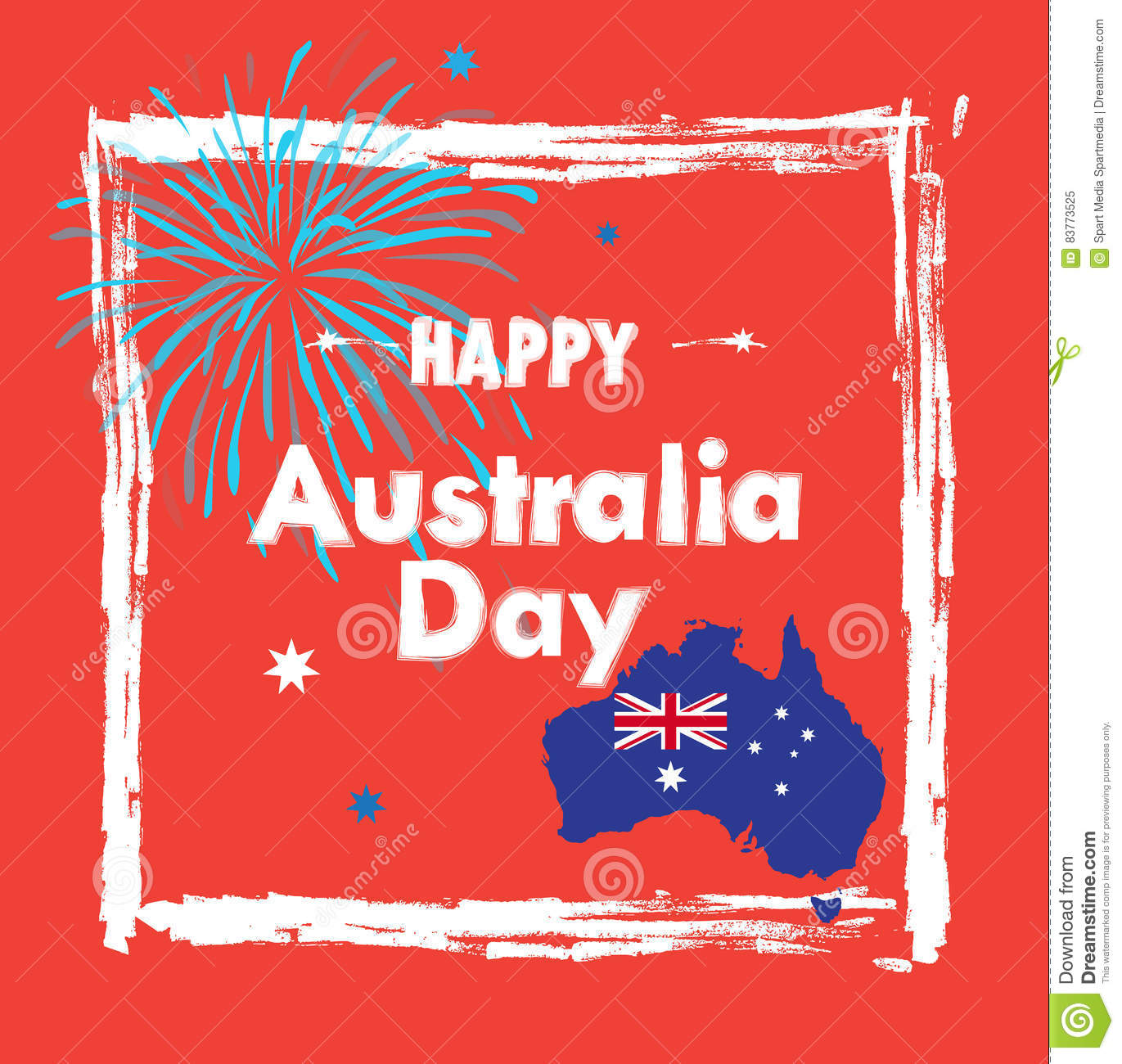 Map Of Australia 26th Parallel.Happy Australia Day Stock Vector Illustration Of Christmas 83773525