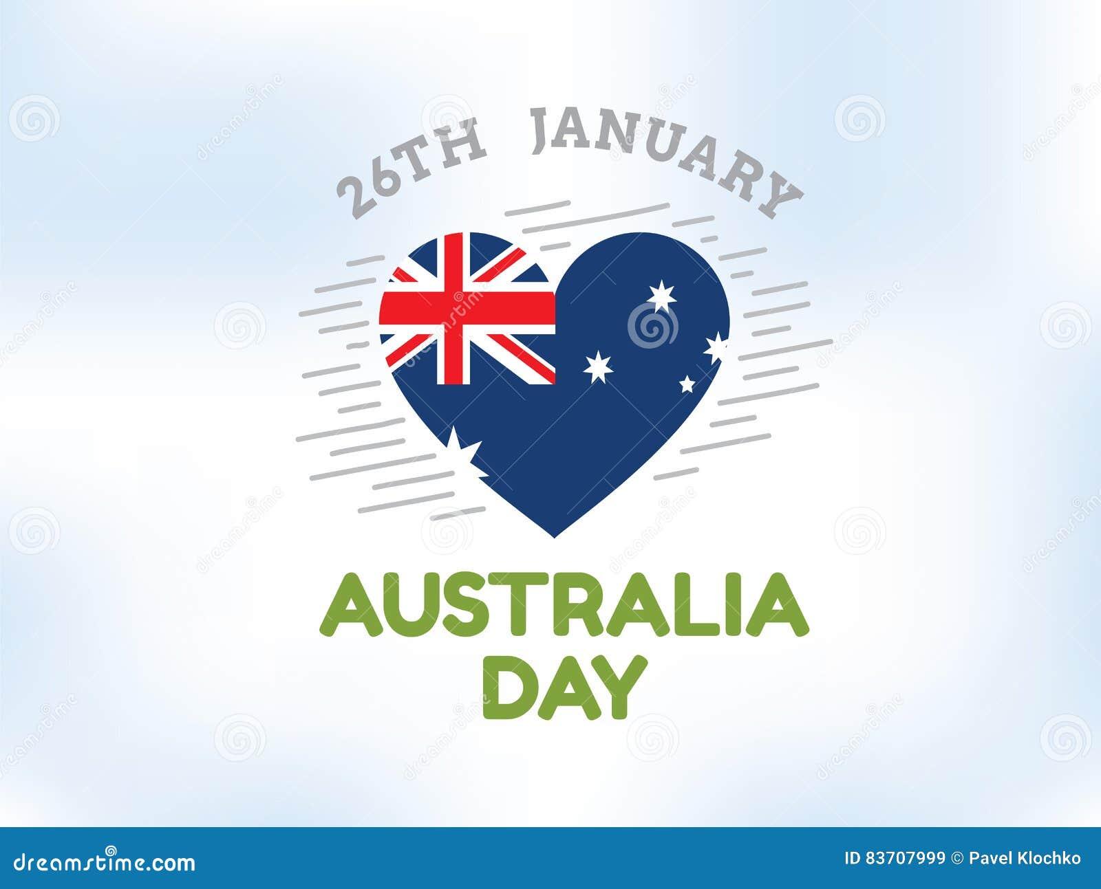 Happy Australia Day Vector Design. Stock Vector