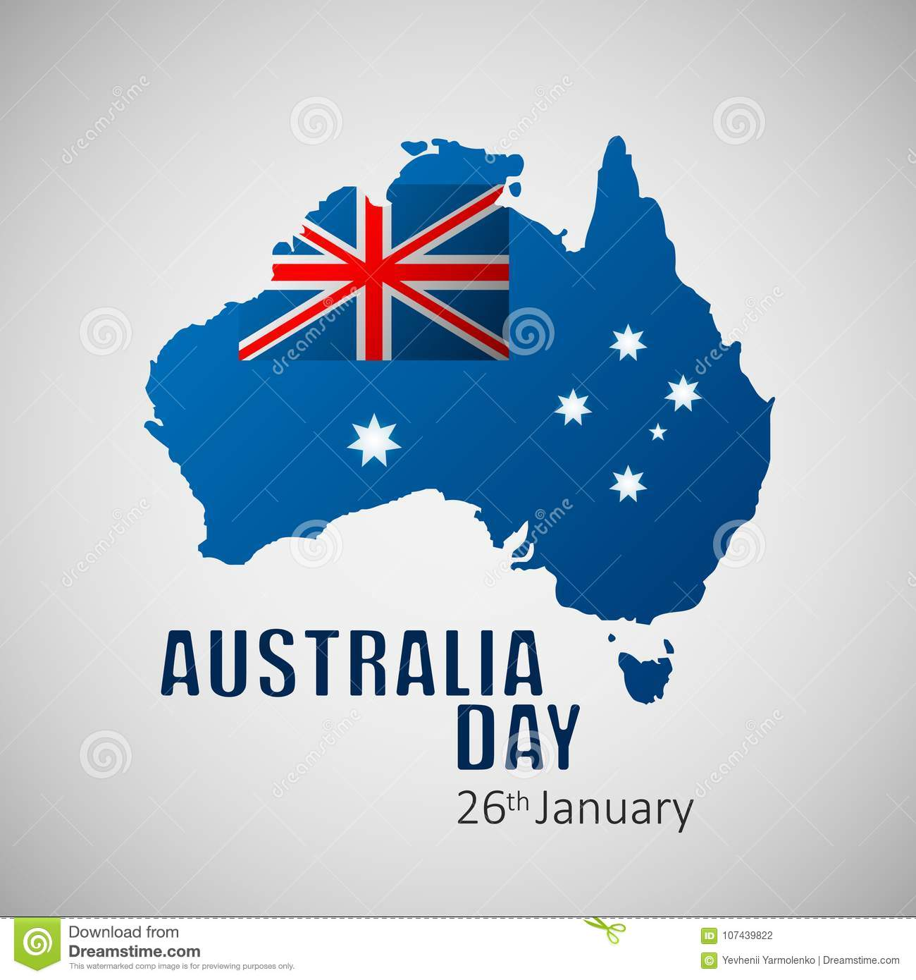 Happy Australia Day Vector Illustration For Greeting Card Poster
