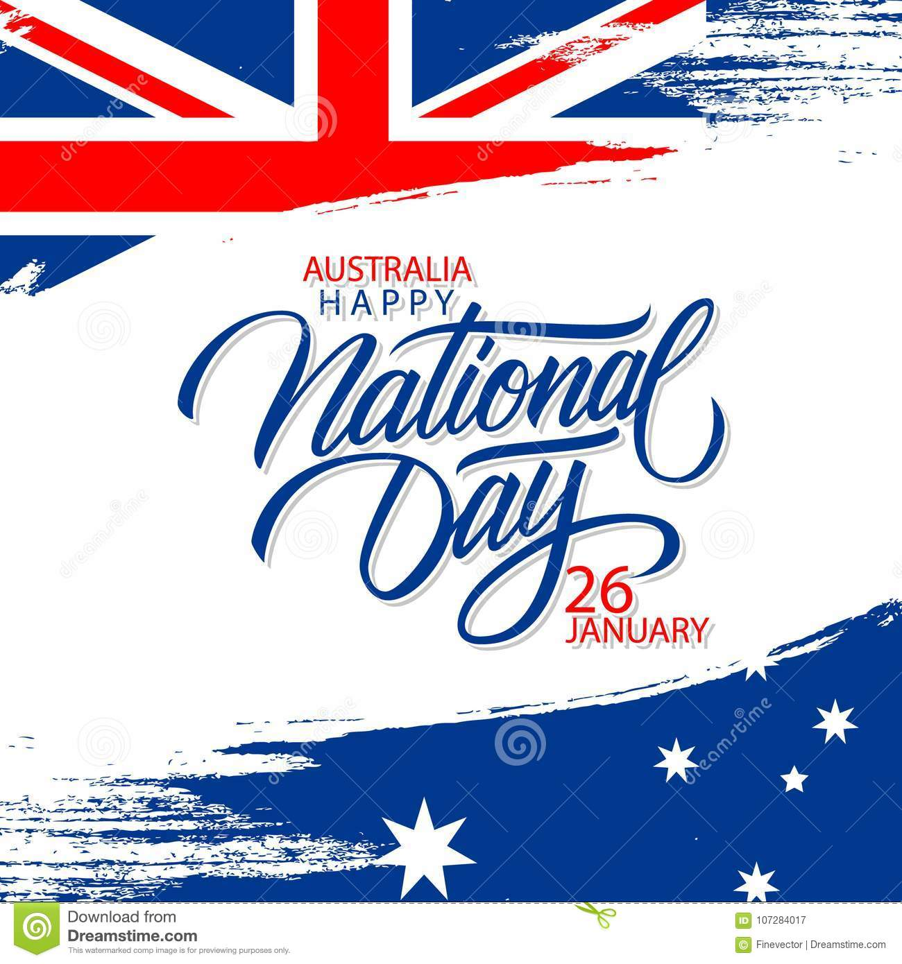 Happy australia national day january 26 greeting card with hand download comp m4hsunfo