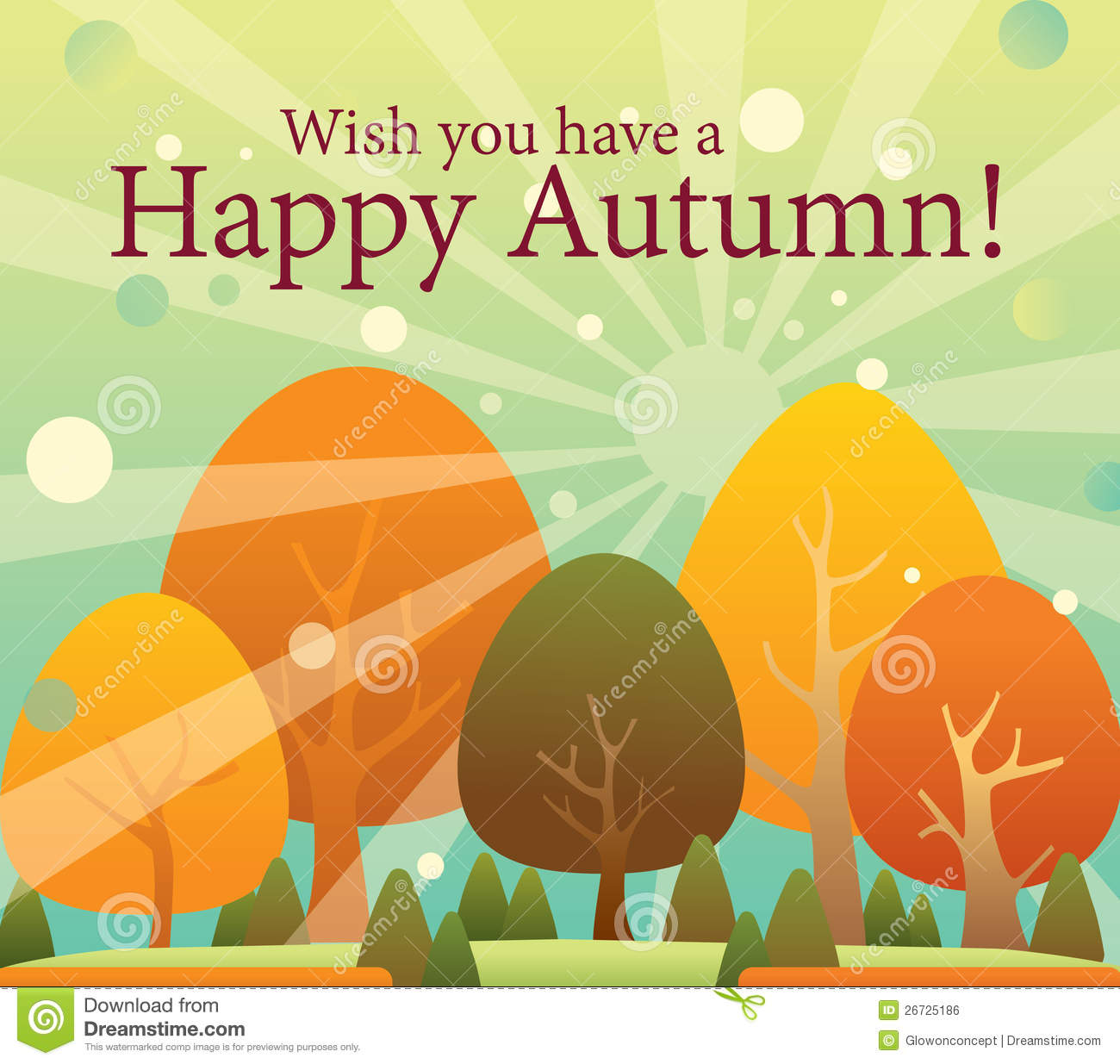 Happy Autumn, Thanksgiving Color Changing Trees Ca Royalty Free Stock Image -...