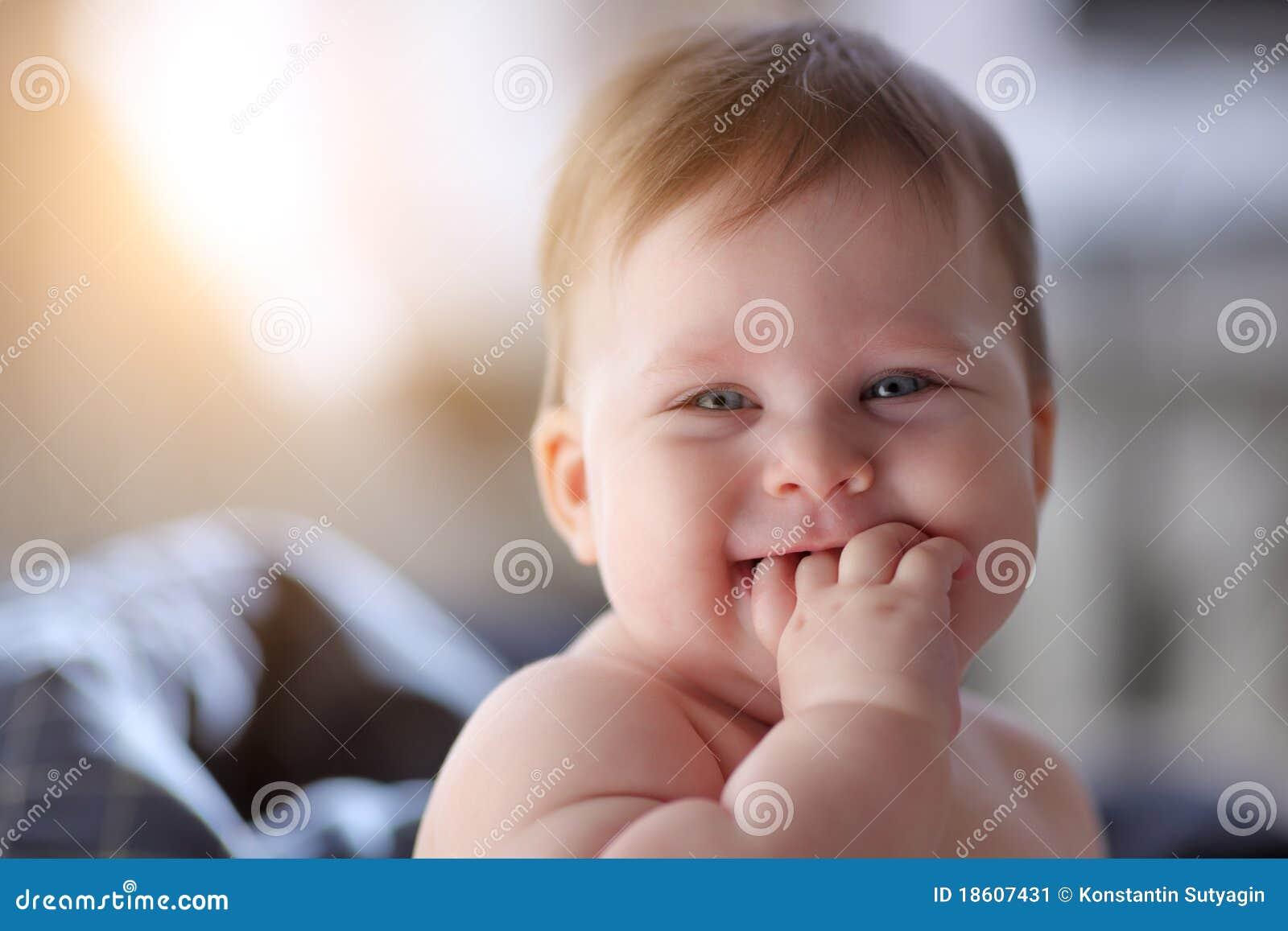 229ed9027fee Happy baby stock image. Image of home