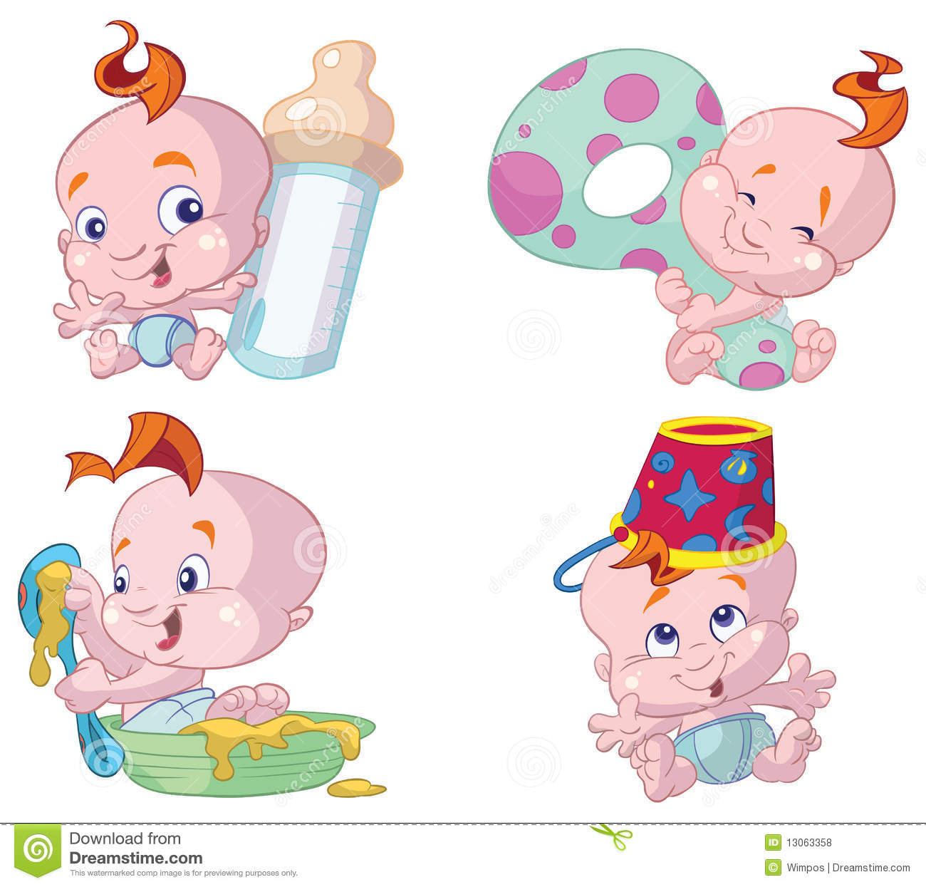 Sweet twins royalty free stock photo image 10320675 - Happy Baby Cartoons Royalty Free Stock Photos