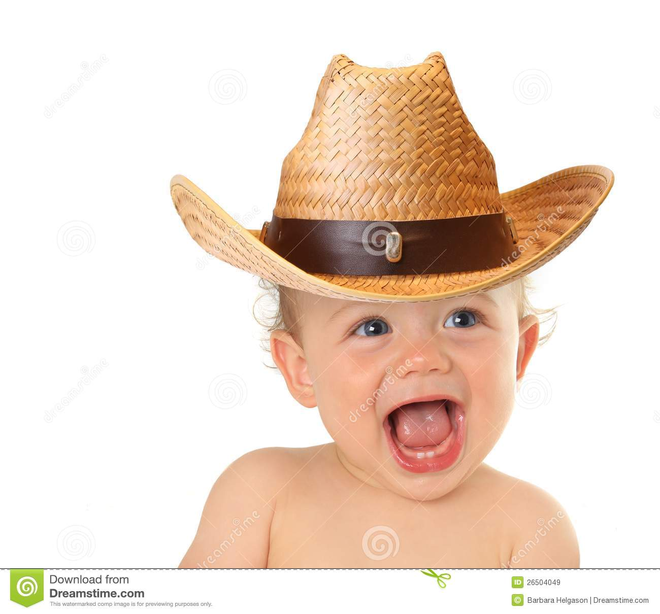happy baby cowboy stock image image of copy isolated 26504049