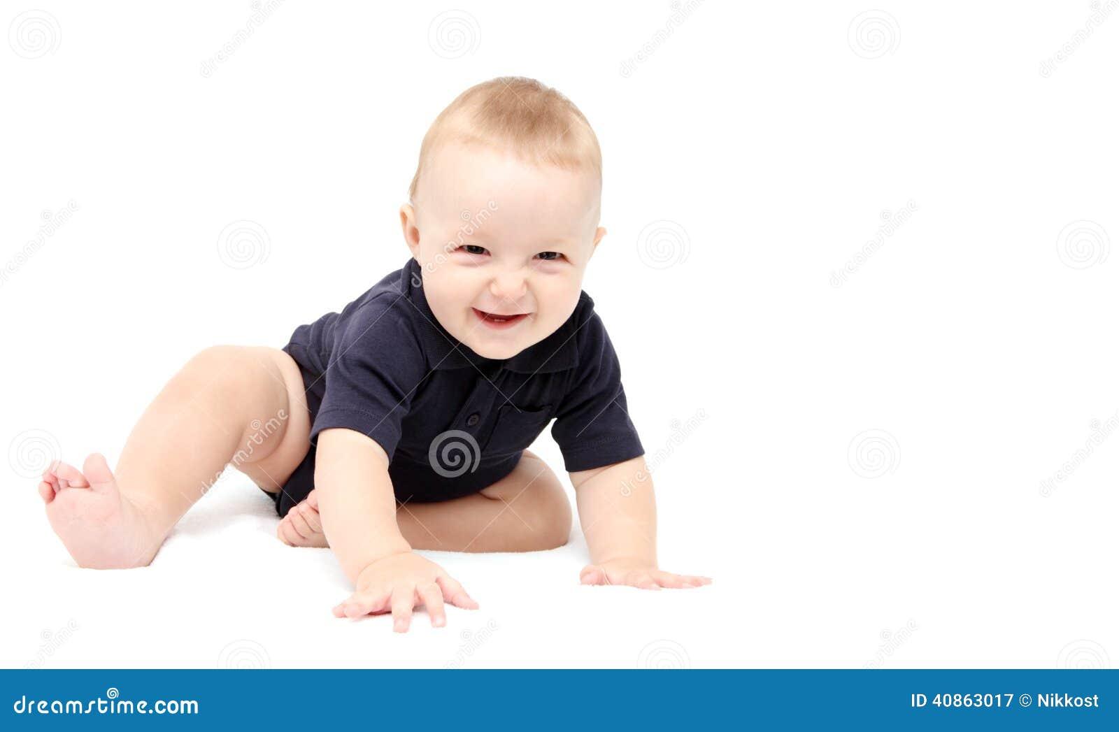 Happy Baby Crawling Stock Photo Image 40863017