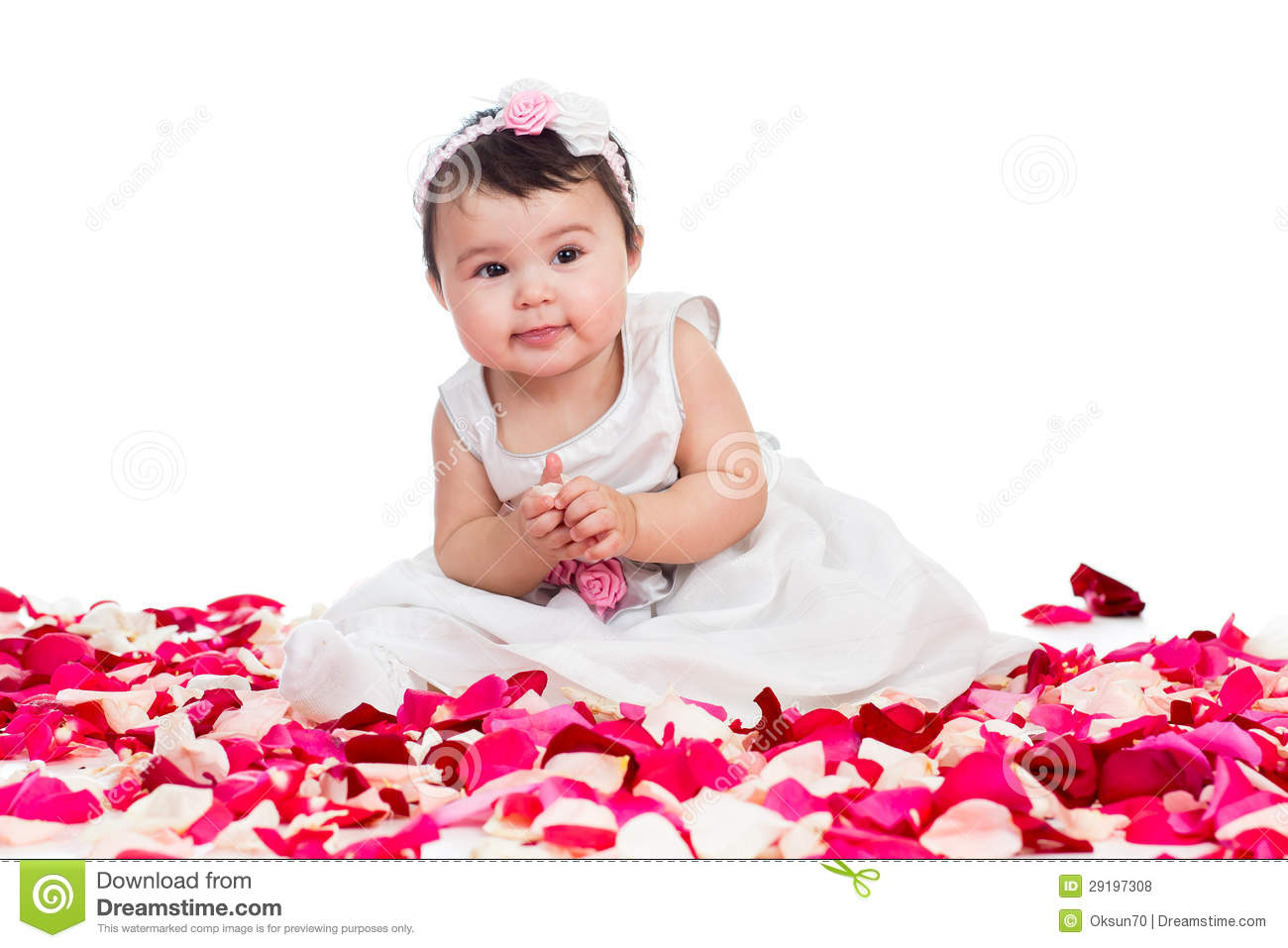 happy baby girl stock photo. image of person, care, flower - 29197308